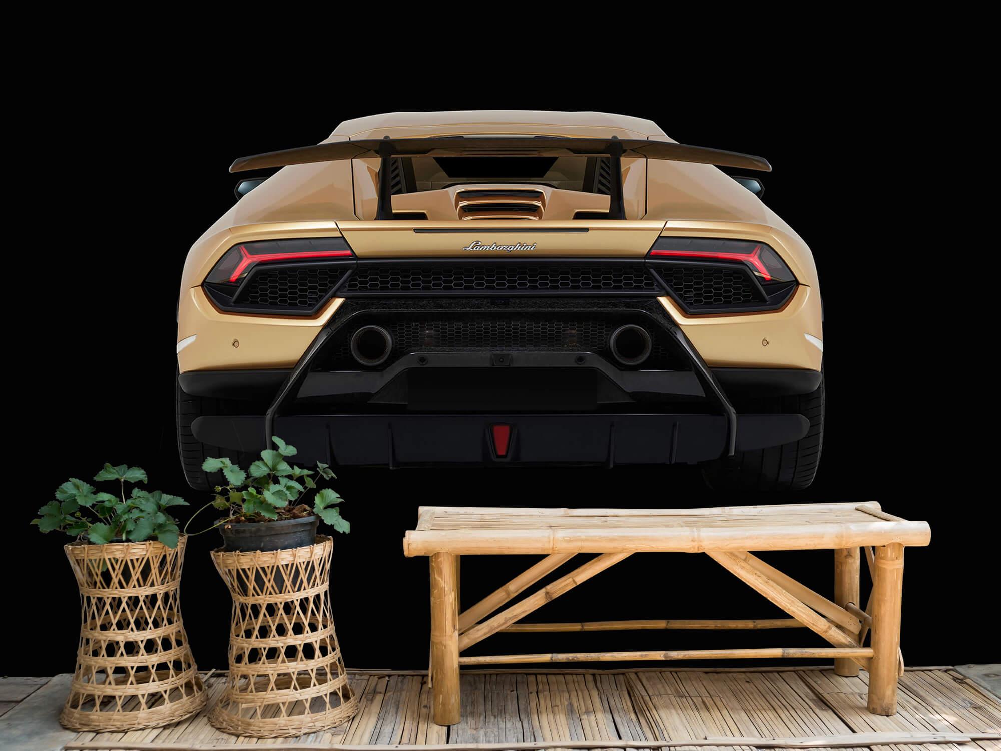 Wallpaper Lamborghini Huracán - Arrière, noir 3