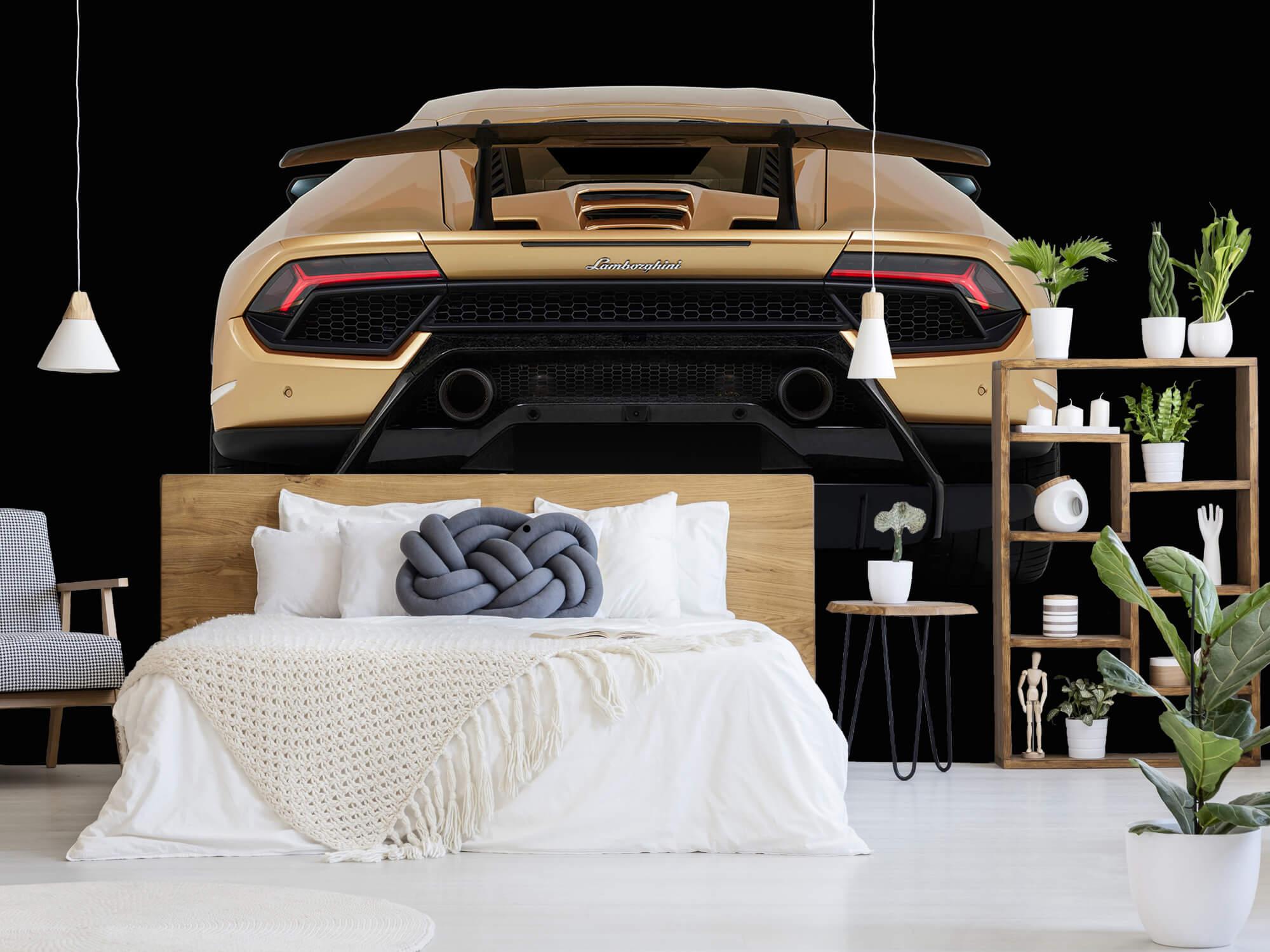 Wallpaper Lamborghini Huracán - Arrière, noir 1