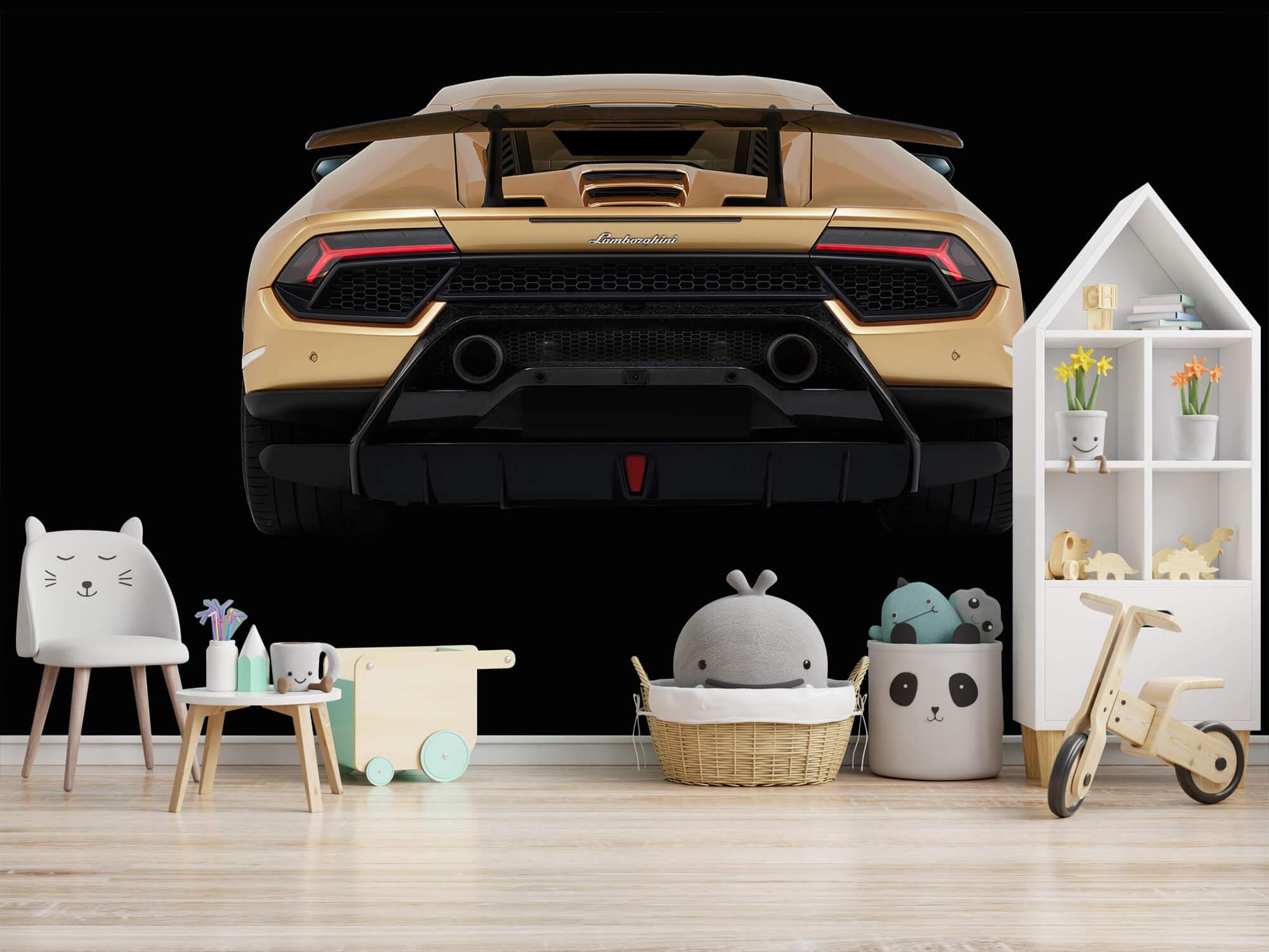 Wallpaper Lamborghini Huracán - Arrière, noir 5