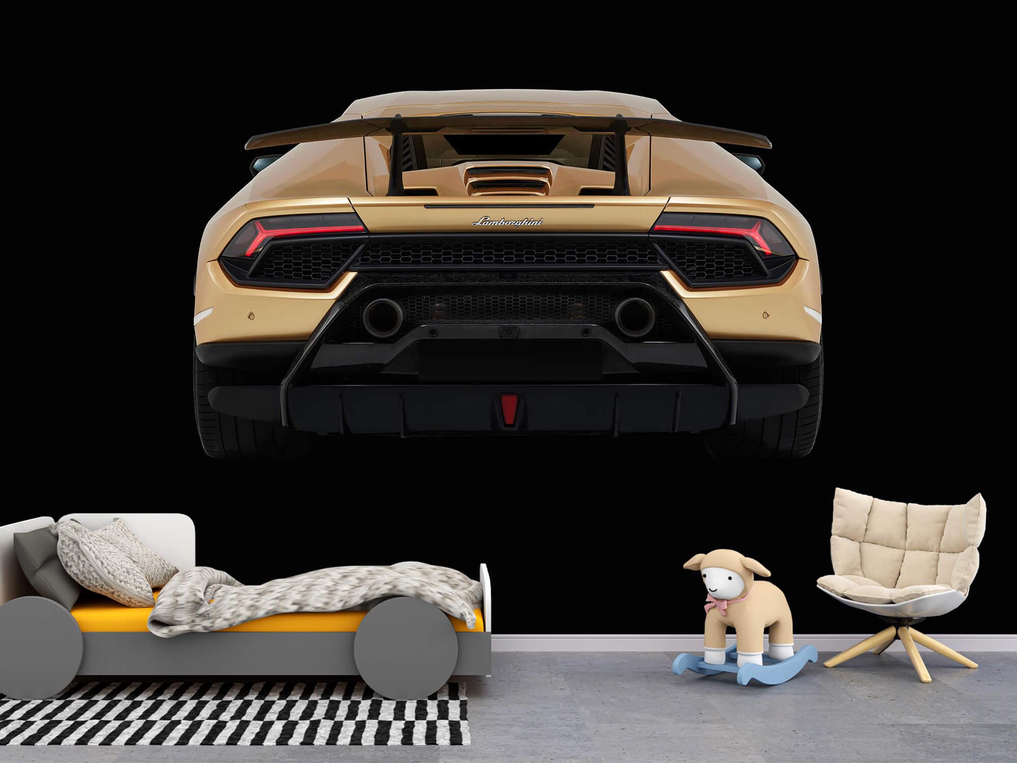 Wallpaper Lamborghini Huracán - Arrière, noir 4