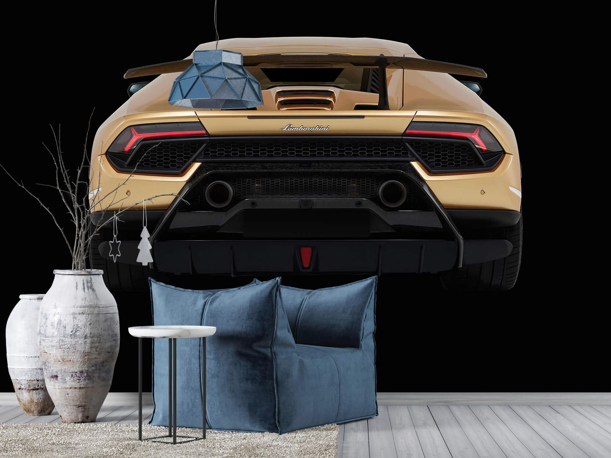 Wallpaper Lamborghini Huracán - Arrière, noir 8