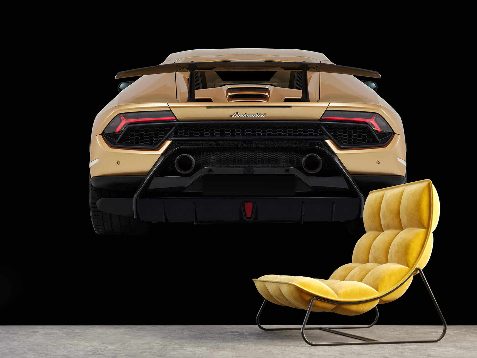 Wallpaper Lamborghini Huracán - Arrière, noir 10