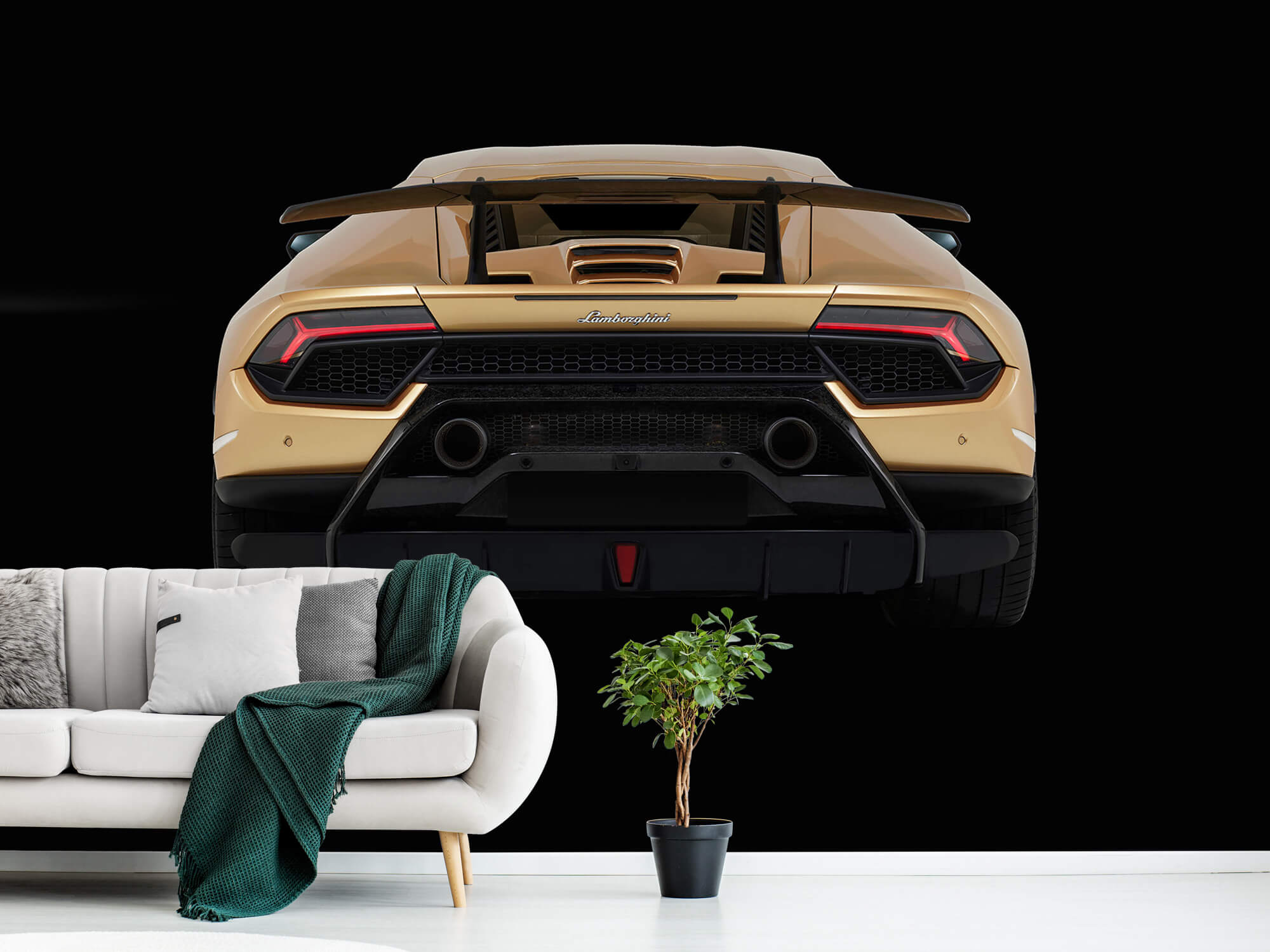 Wallpaper Lamborghini Huracán - Arrière, noir 12