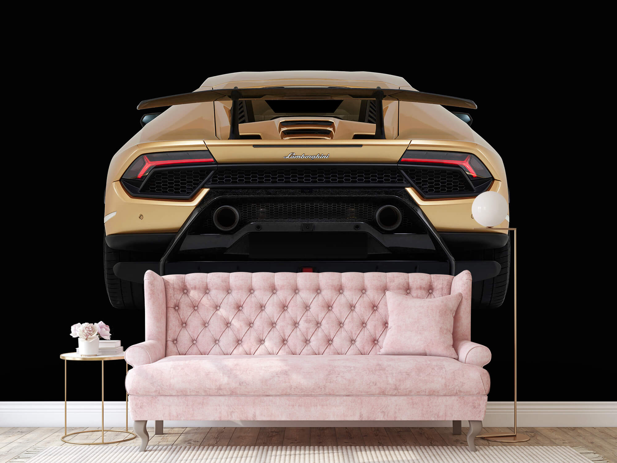 Wallpaper Lamborghini Huracán - Arrière, noir 13