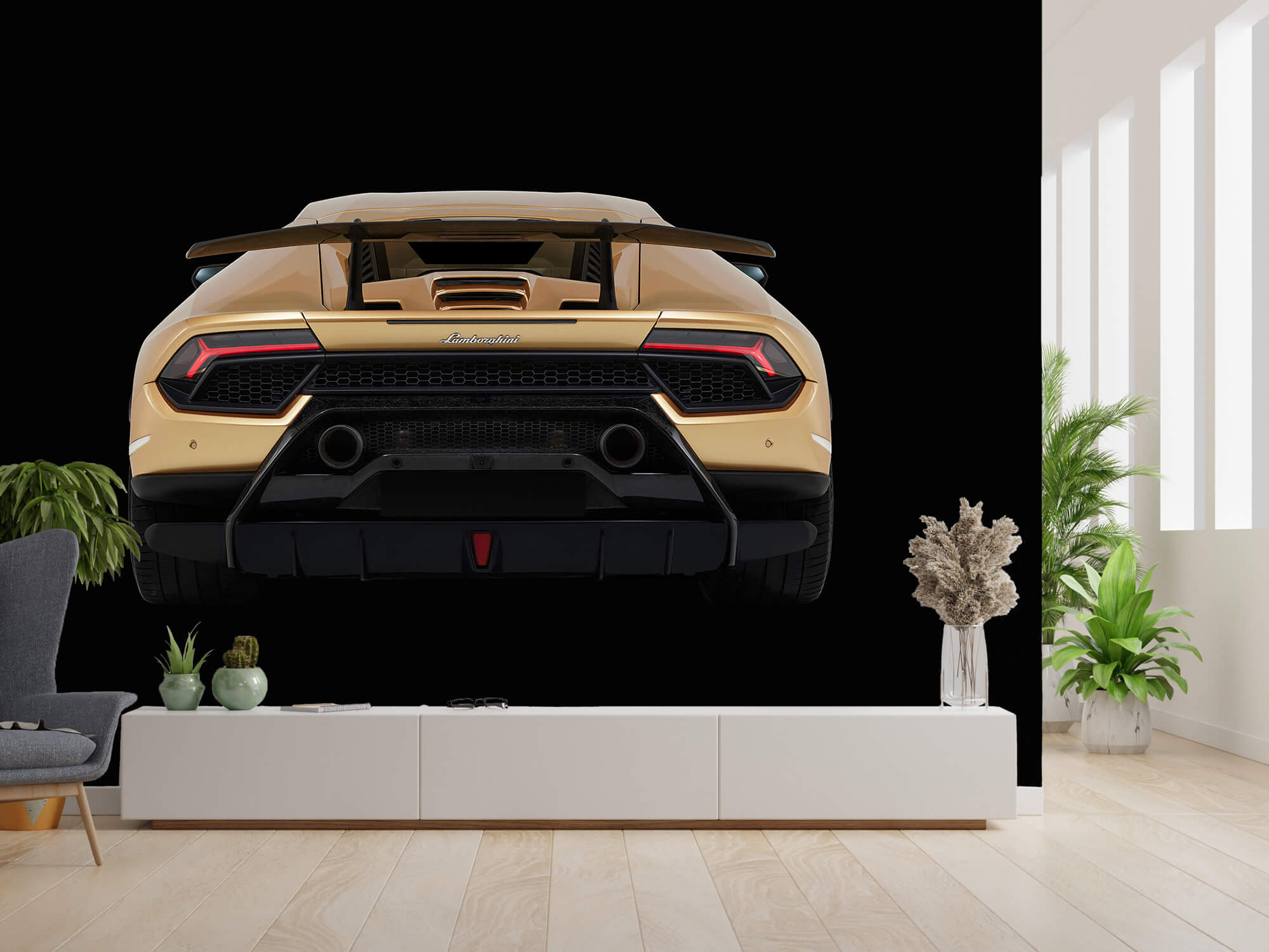 Wallpaper Lamborghini Huracán - Arrière, noir 2