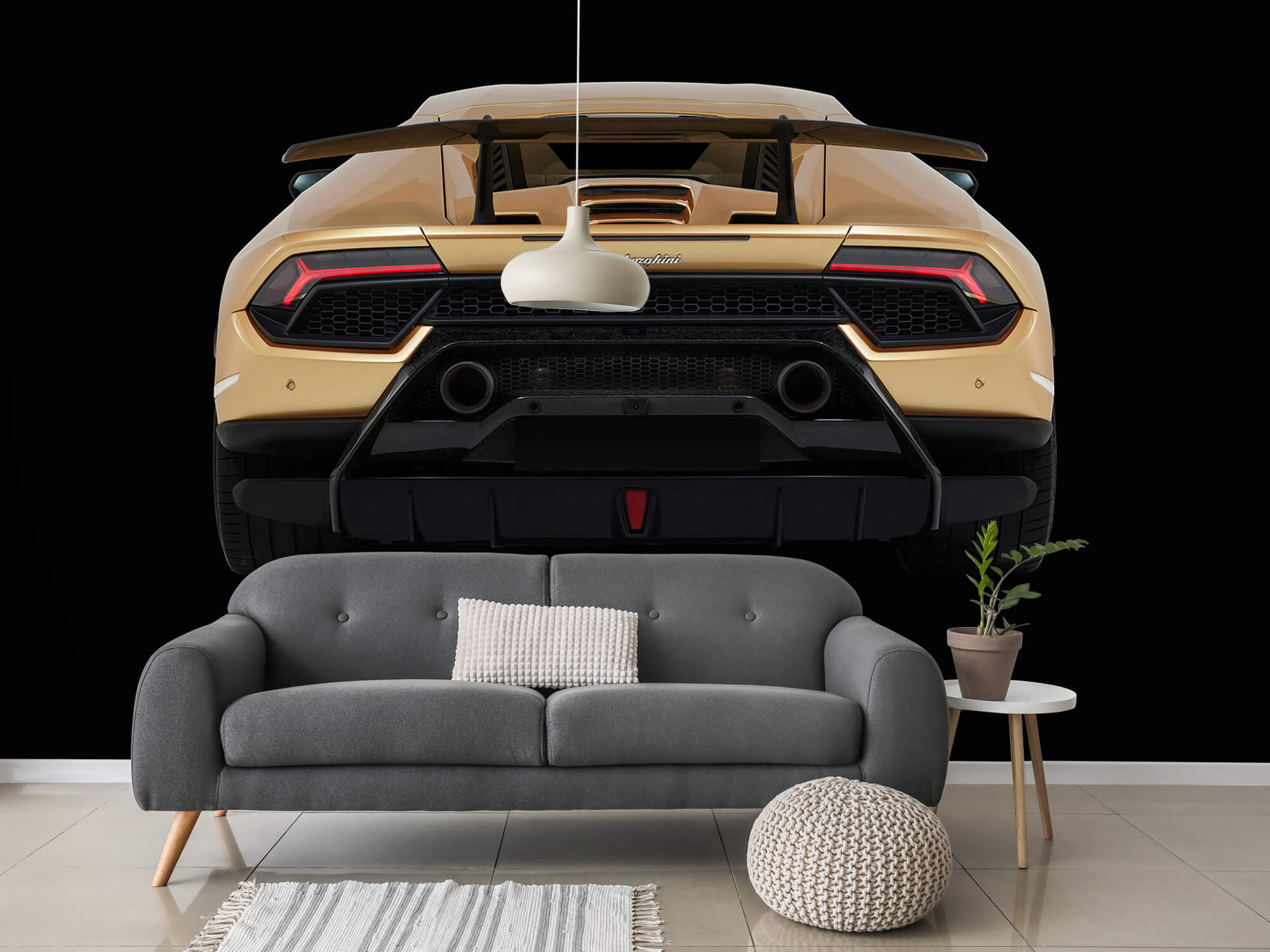 Wallpaper Lamborghini Huracán - Arrière, noir 15