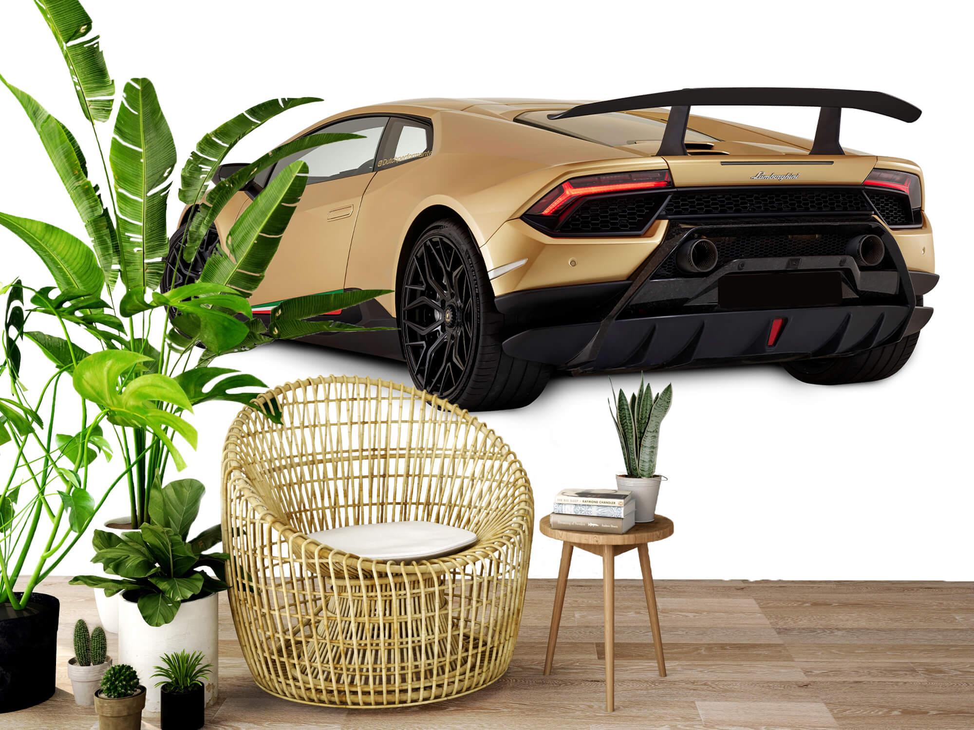 Wallpaper Lamborghini Huracán - Côté arrière gauche, blanc 9