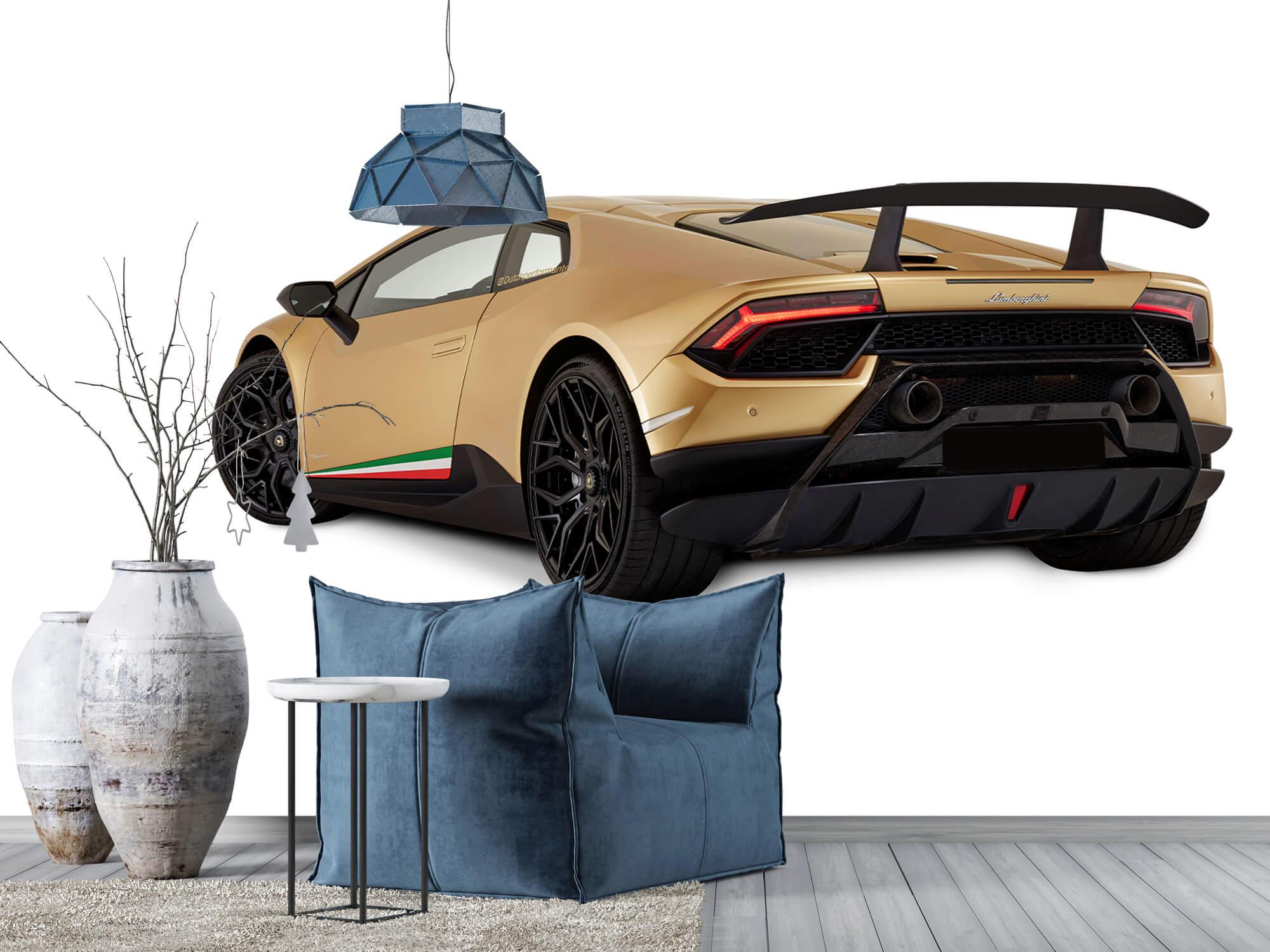 Wallpaper Lamborghini Huracán - Côté arrière gauche, blanc 5