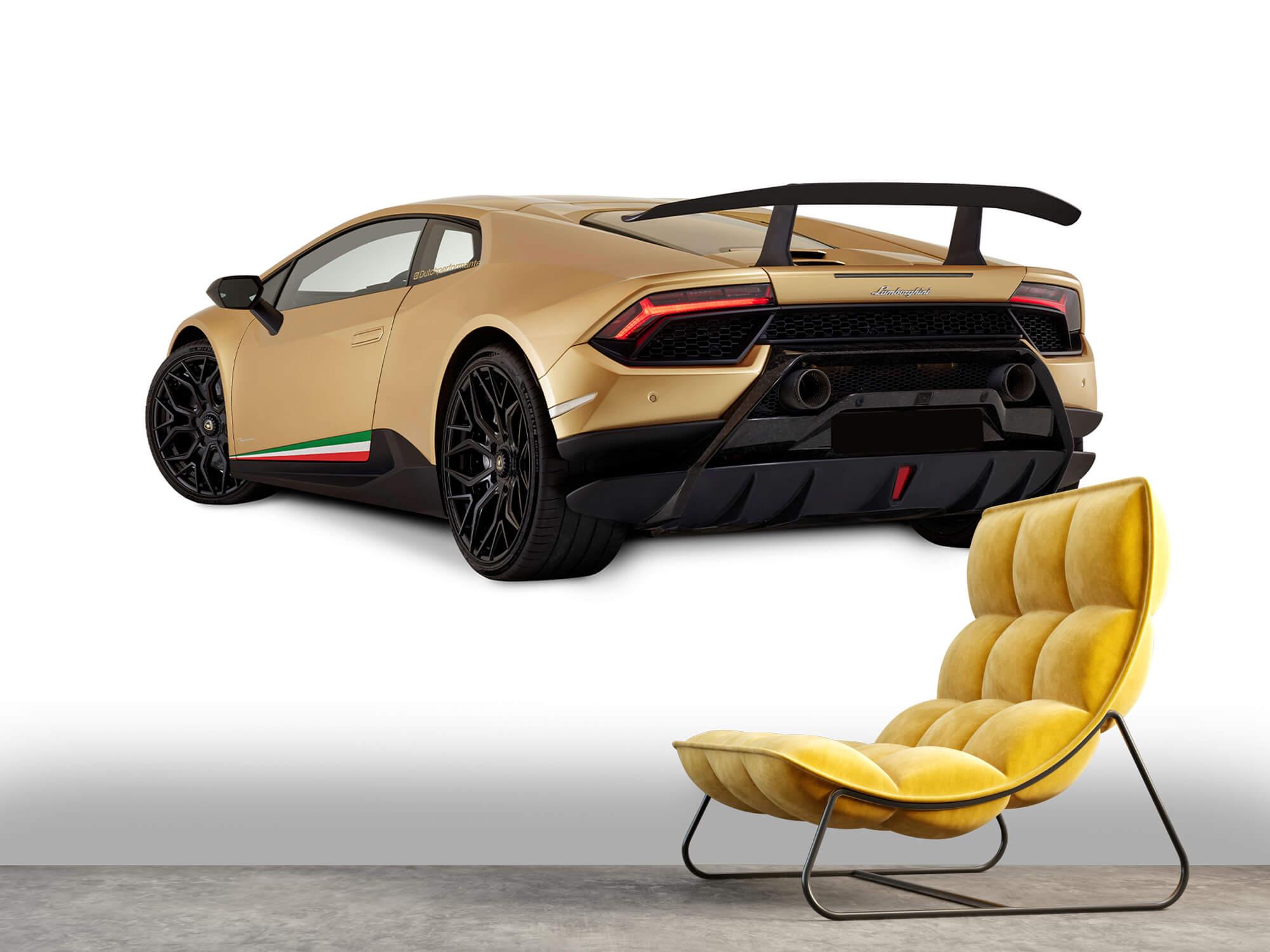 Wallpaper Lamborghini Huracán - Côté arrière gauche, blanc 11
