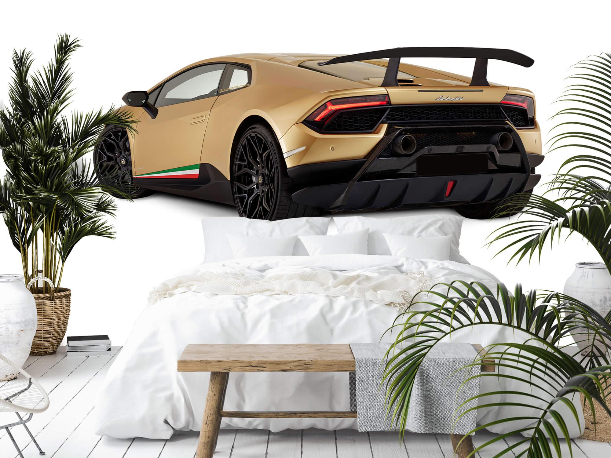 Wallpaper Lamborghini Huracán - Côté arrière gauche, blanc 2