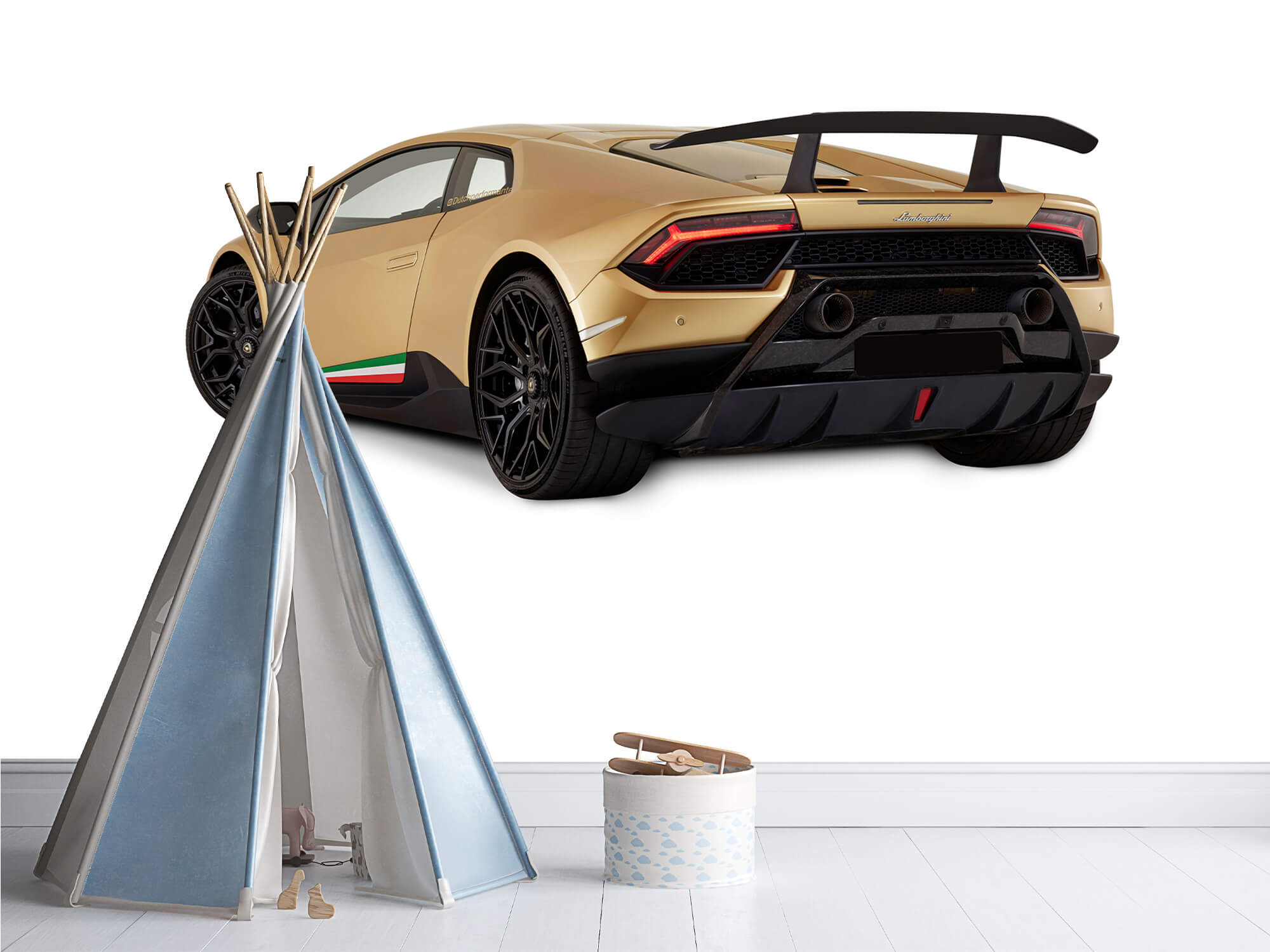 Wallpaper Lamborghini Huracán - Côté arrière gauche, blanc 12