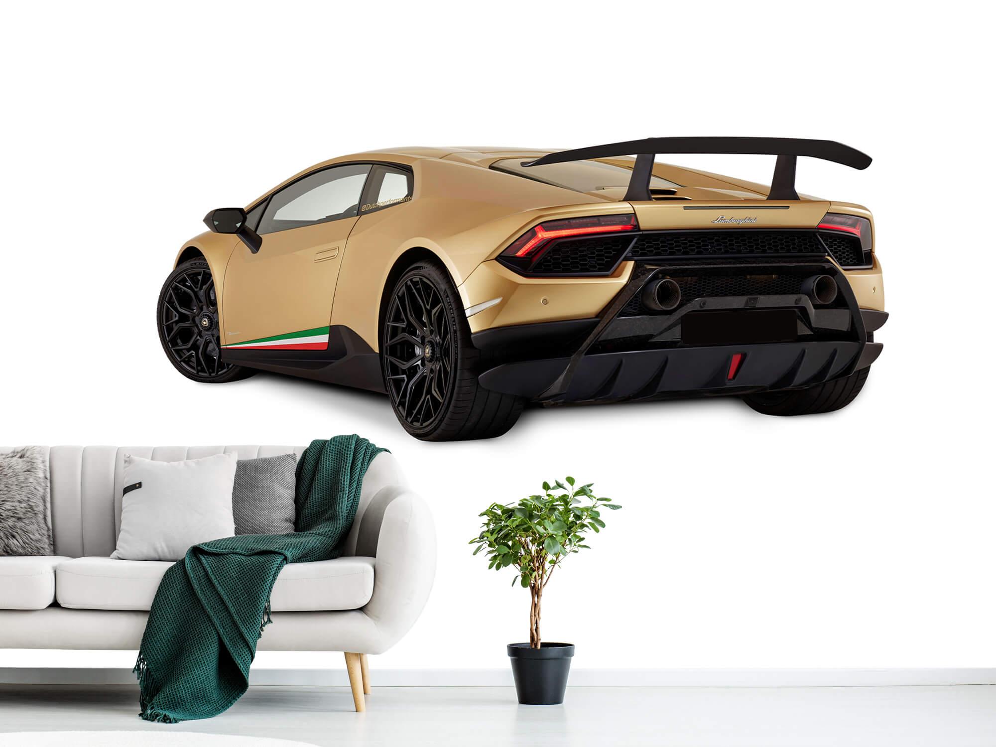 Wallpaper Lamborghini Huracán - Côté arrière gauche, blanc 1