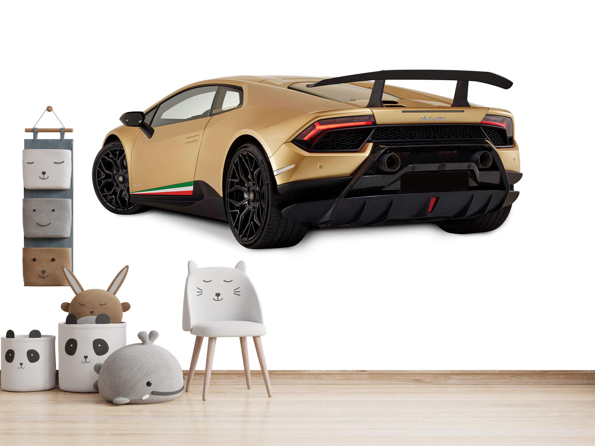 Wallpaper Lamborghini Huracán - Côté arrière gauche, blanc 14