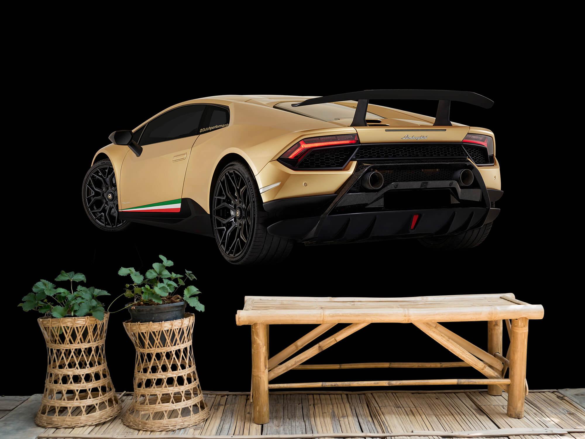 Wallpaper Lamborghini Huracán - Côté arrière gauche, noir 6