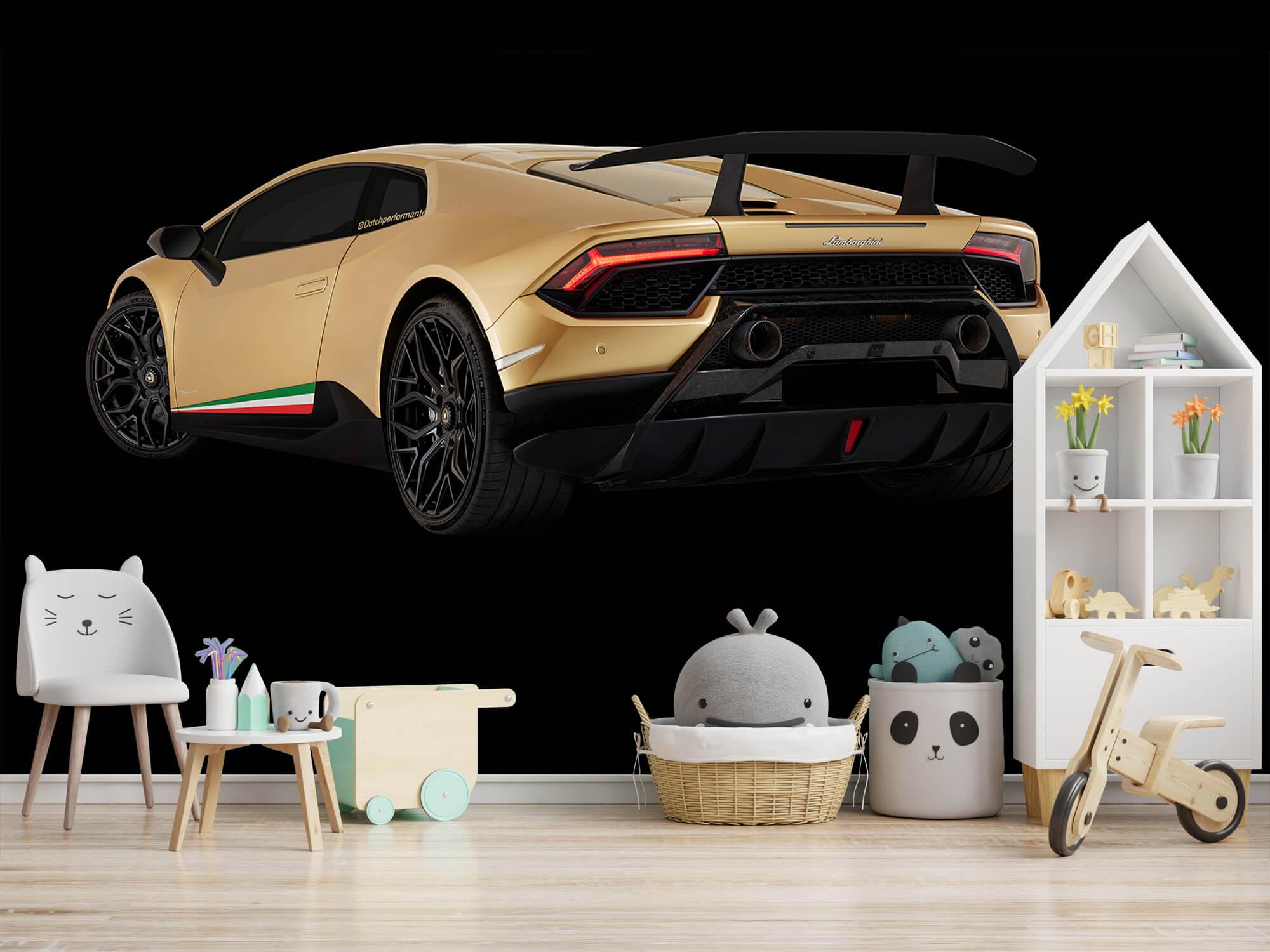 Wallpaper Lamborghini Huracán - Côté arrière gauche, noir 7