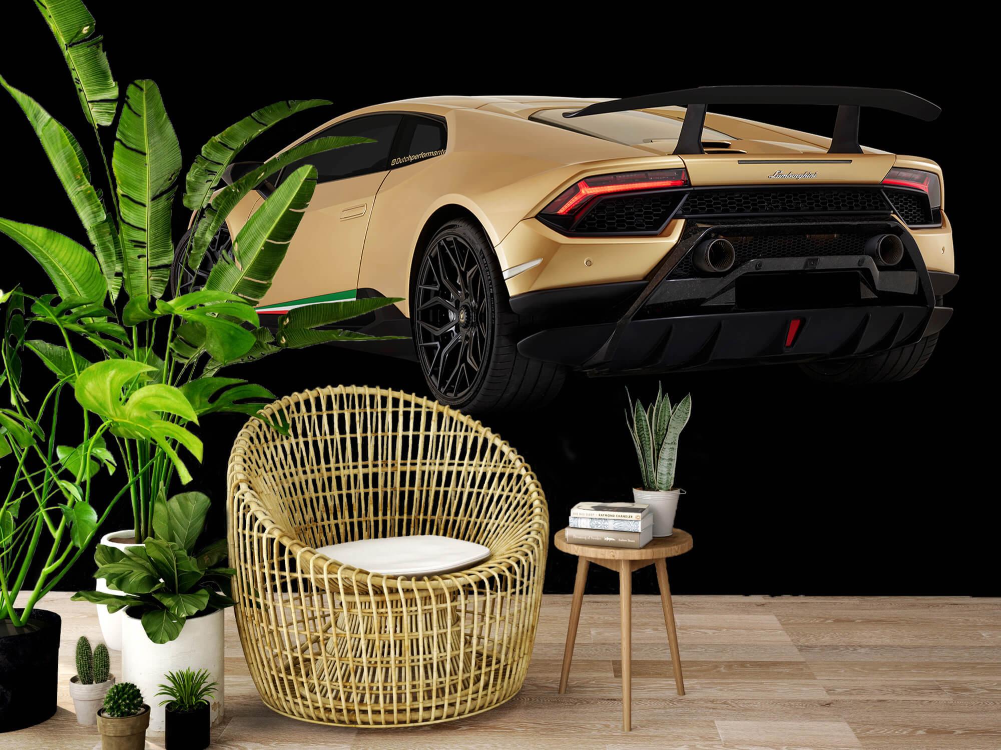 Wallpaper Lamborghini Huracán - Côté arrière gauche, noir 8
