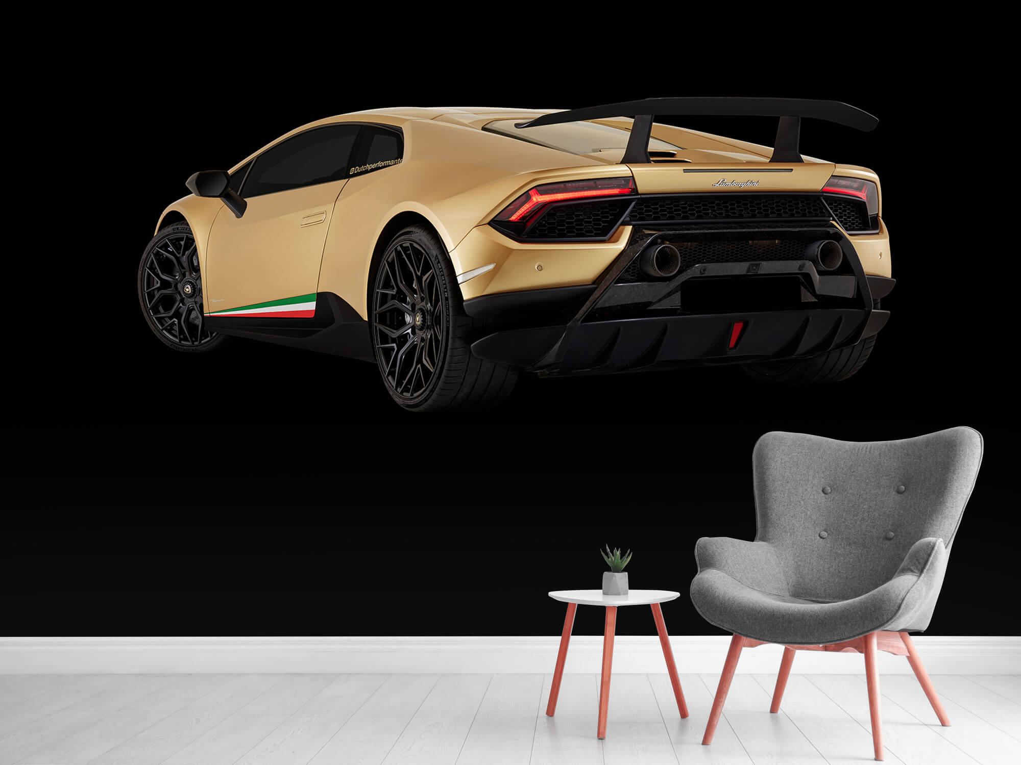 Wallpaper Lamborghini Huracán - Côté arrière gauche, noir 12