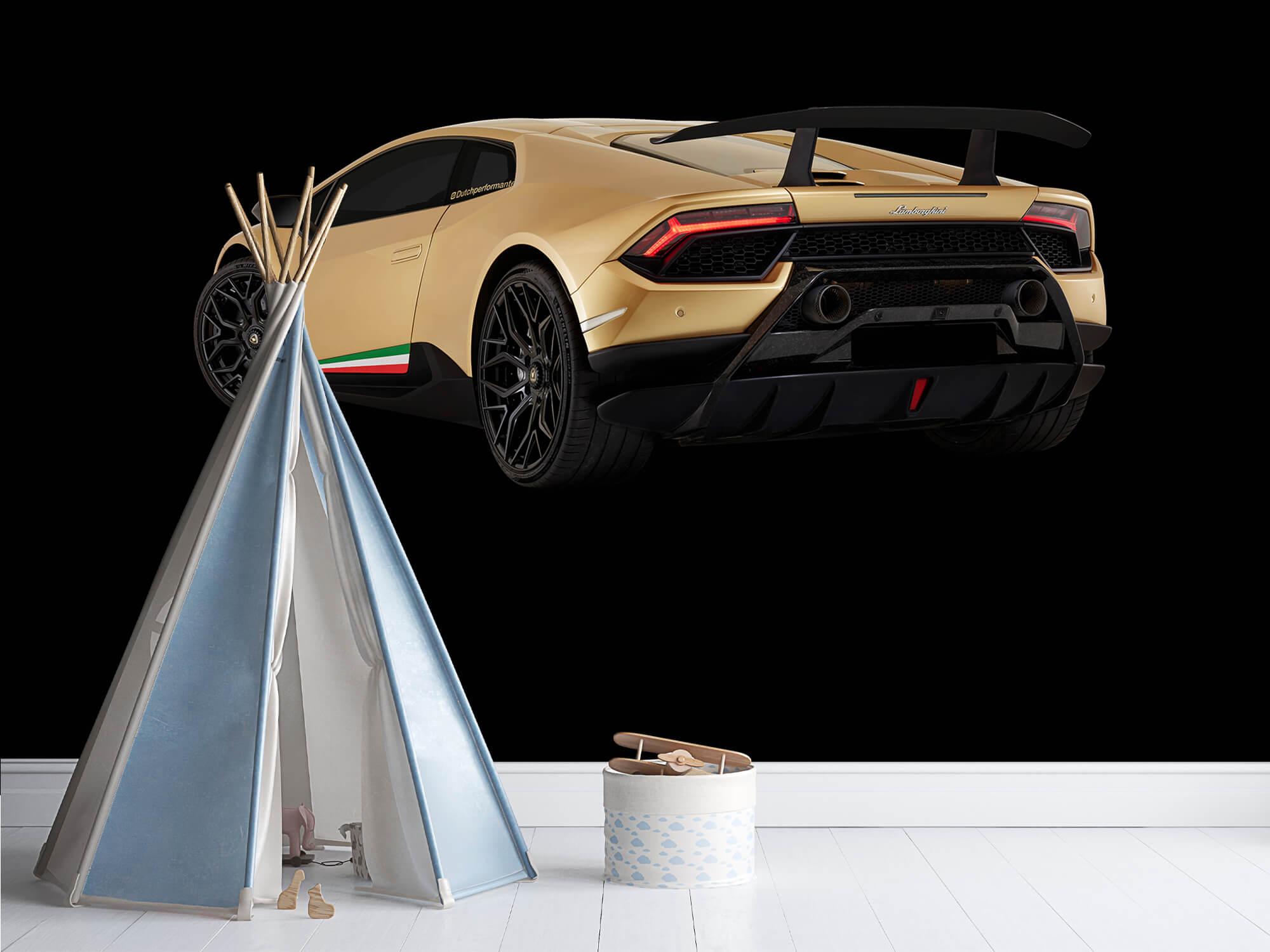 Wallpaper Lamborghini Huracán - Côté arrière gauche, noir 4