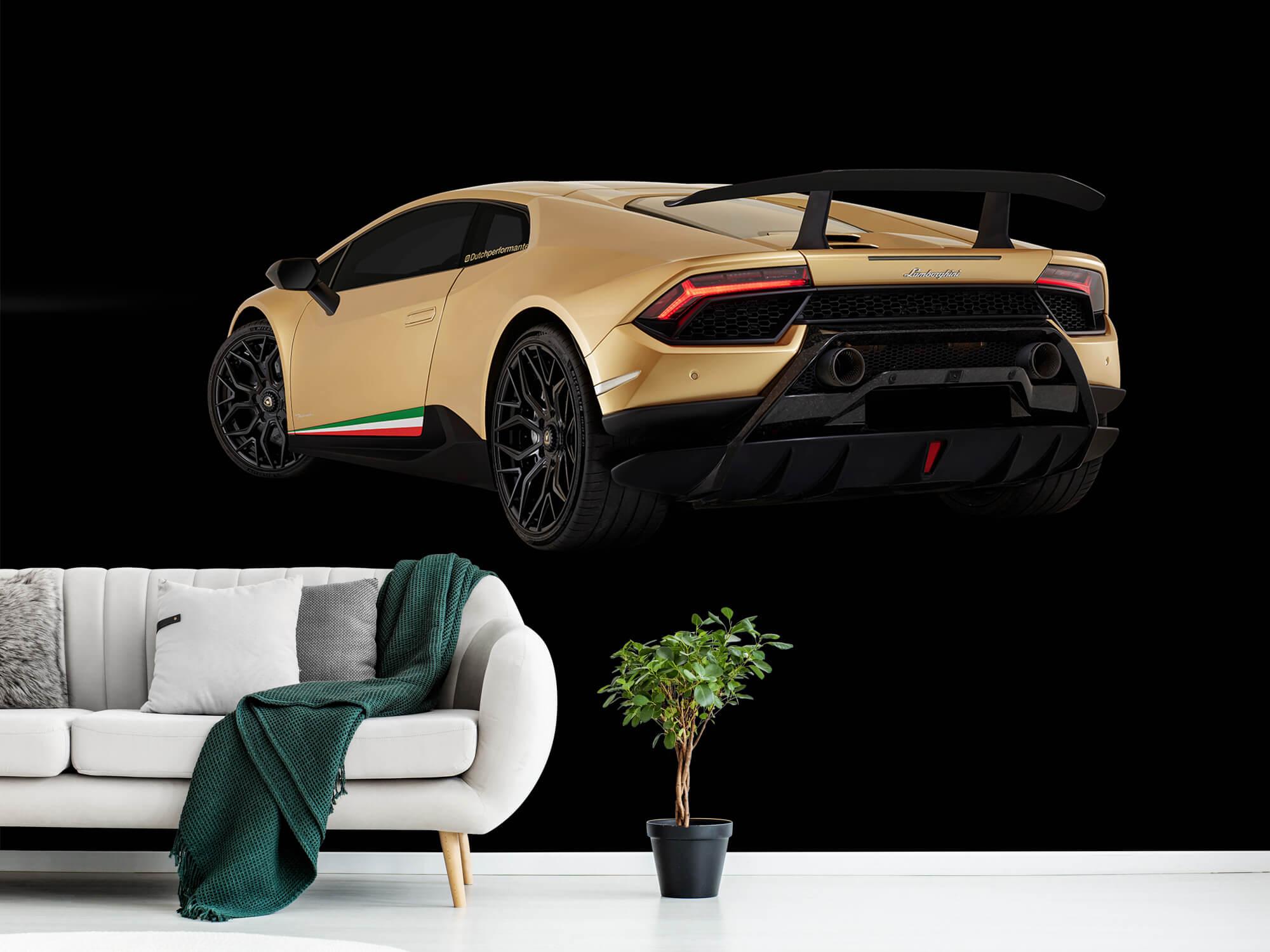 Wallpaper Lamborghini Huracán - Côté arrière gauche, noir 13