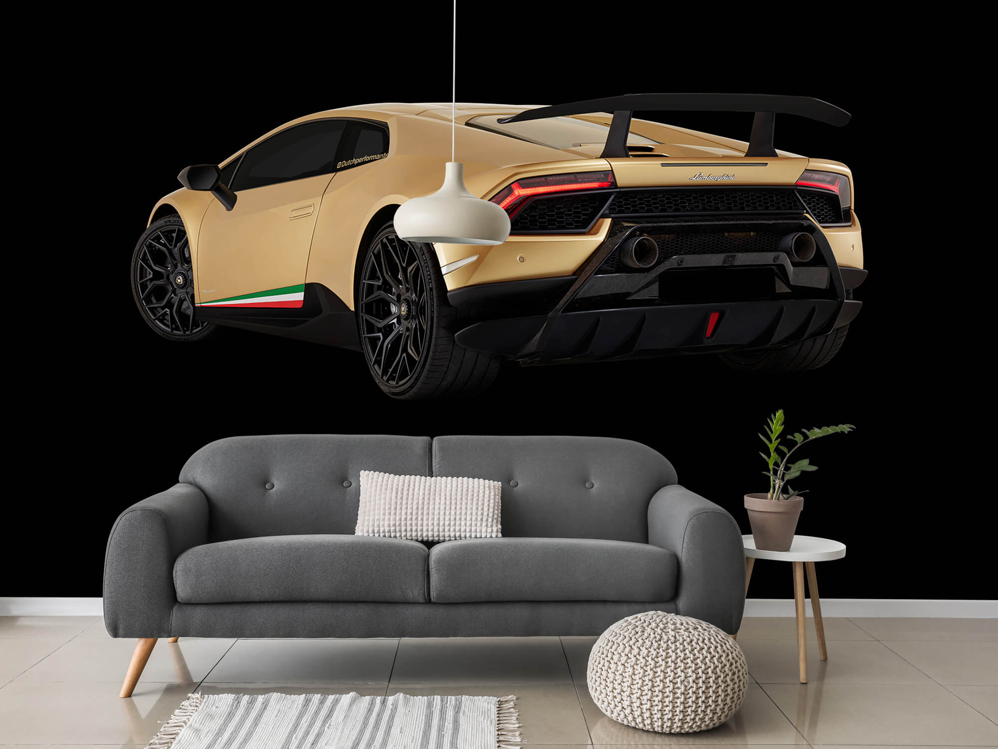 Wallpaper Lamborghini Huracán - Côté arrière gauche, noir 3