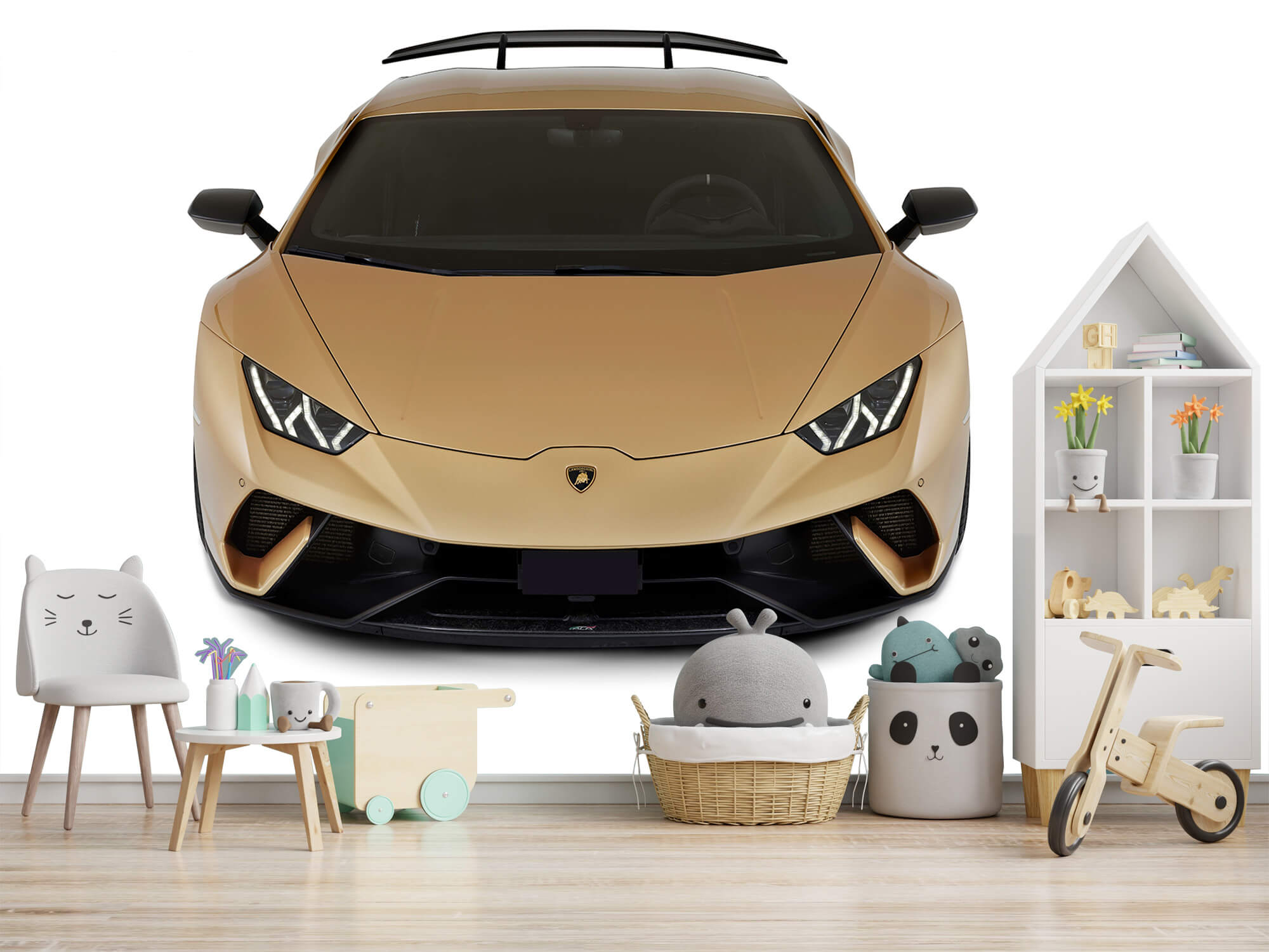 Wallpaper Lamborghini Huracán - Avant du dessus, blanc 6