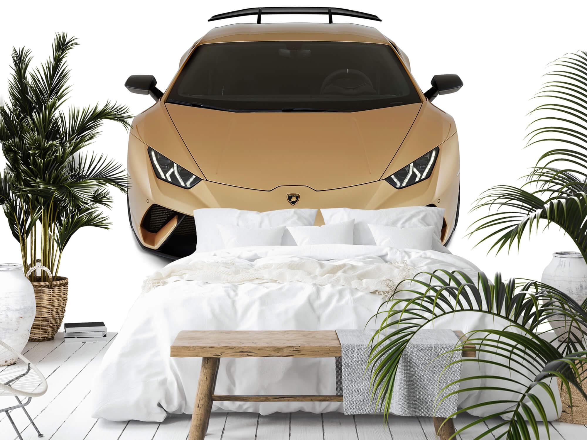 Wallpaper Lamborghini Huracán - Avant du dessus, blanc 11