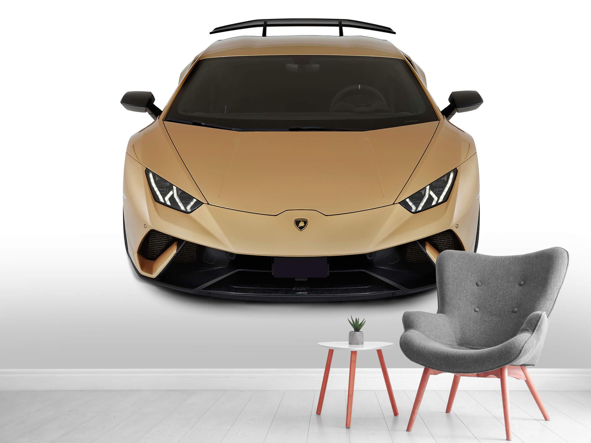 Wallpaper Lamborghini Huracán - Avant du dessus, blanc 2
