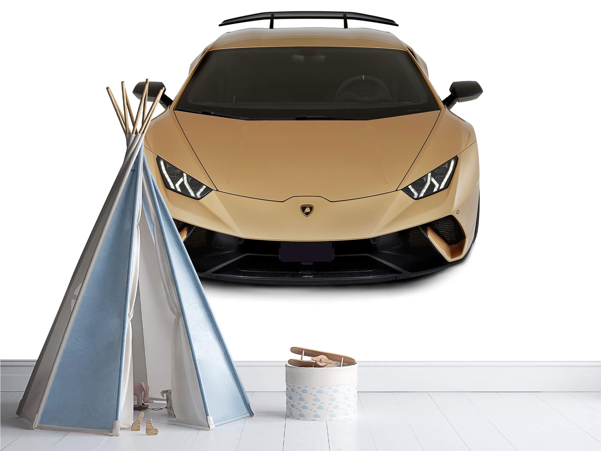Wallpaper Lamborghini Huracán - Avant du dessus, blanc 5