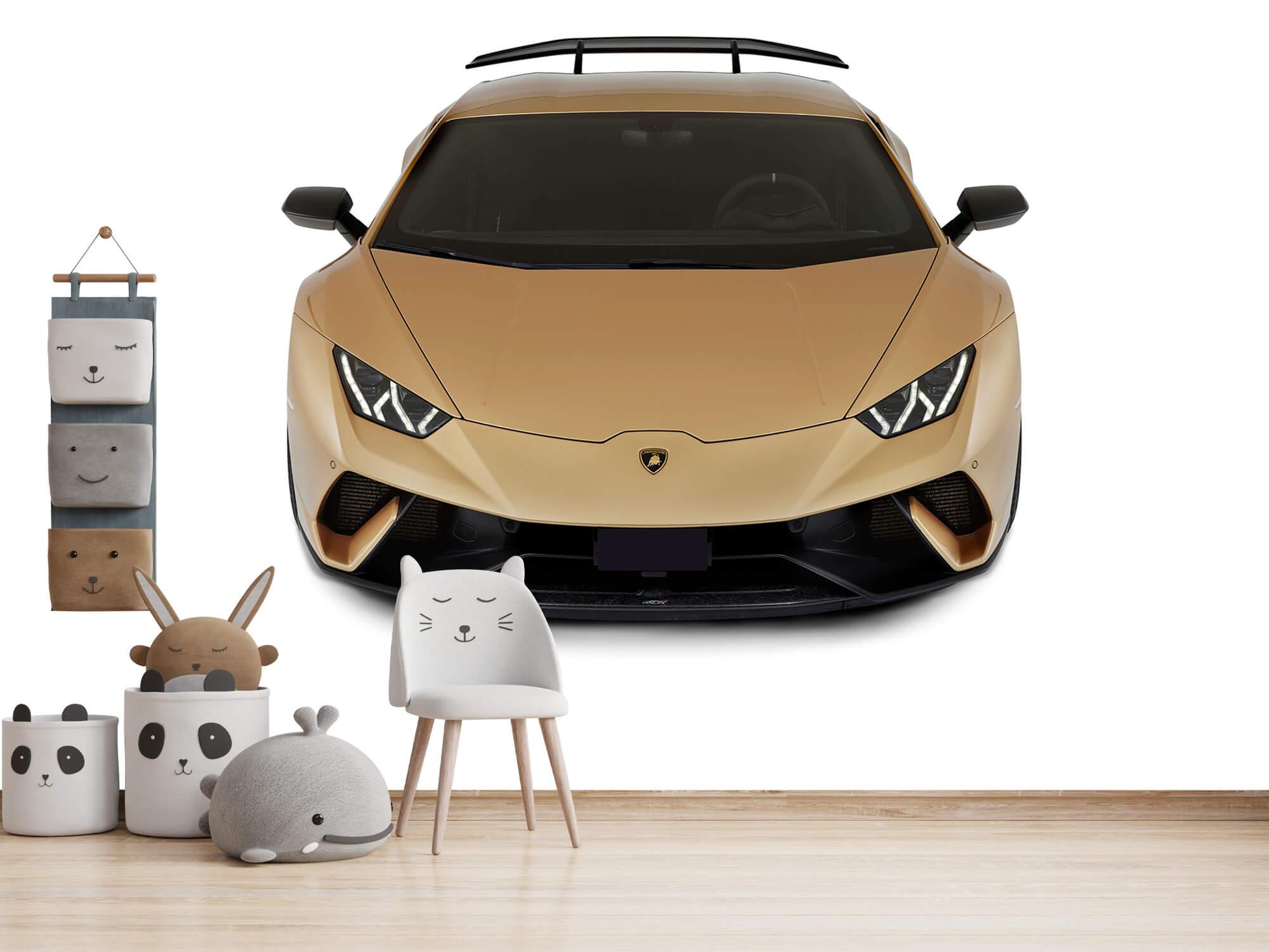 Wallpaper Lamborghini Huracán - Avant du dessus, blanc 8