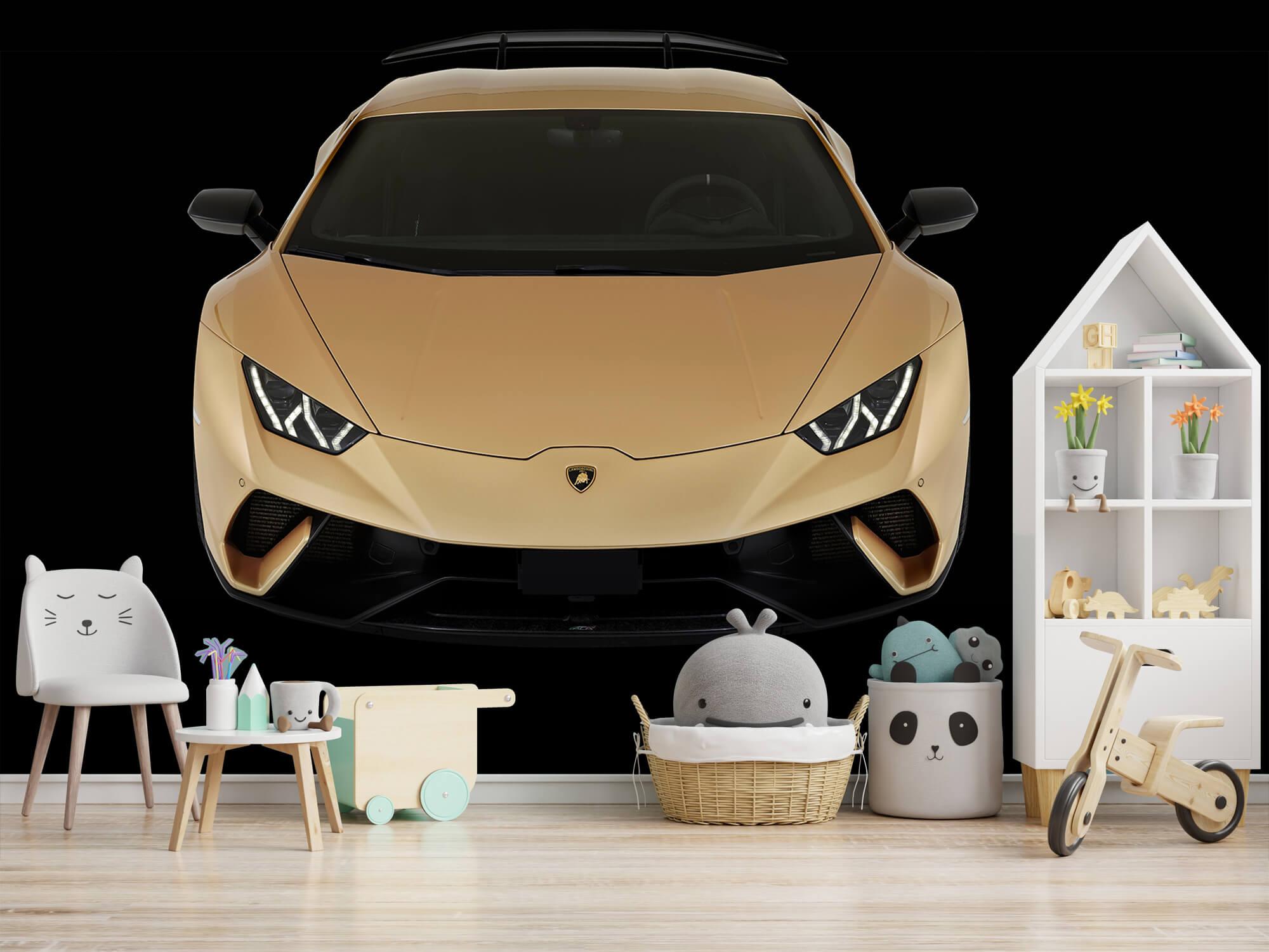 Wallpaper Lamborghini Huracán - Avant du dessus, noir 4