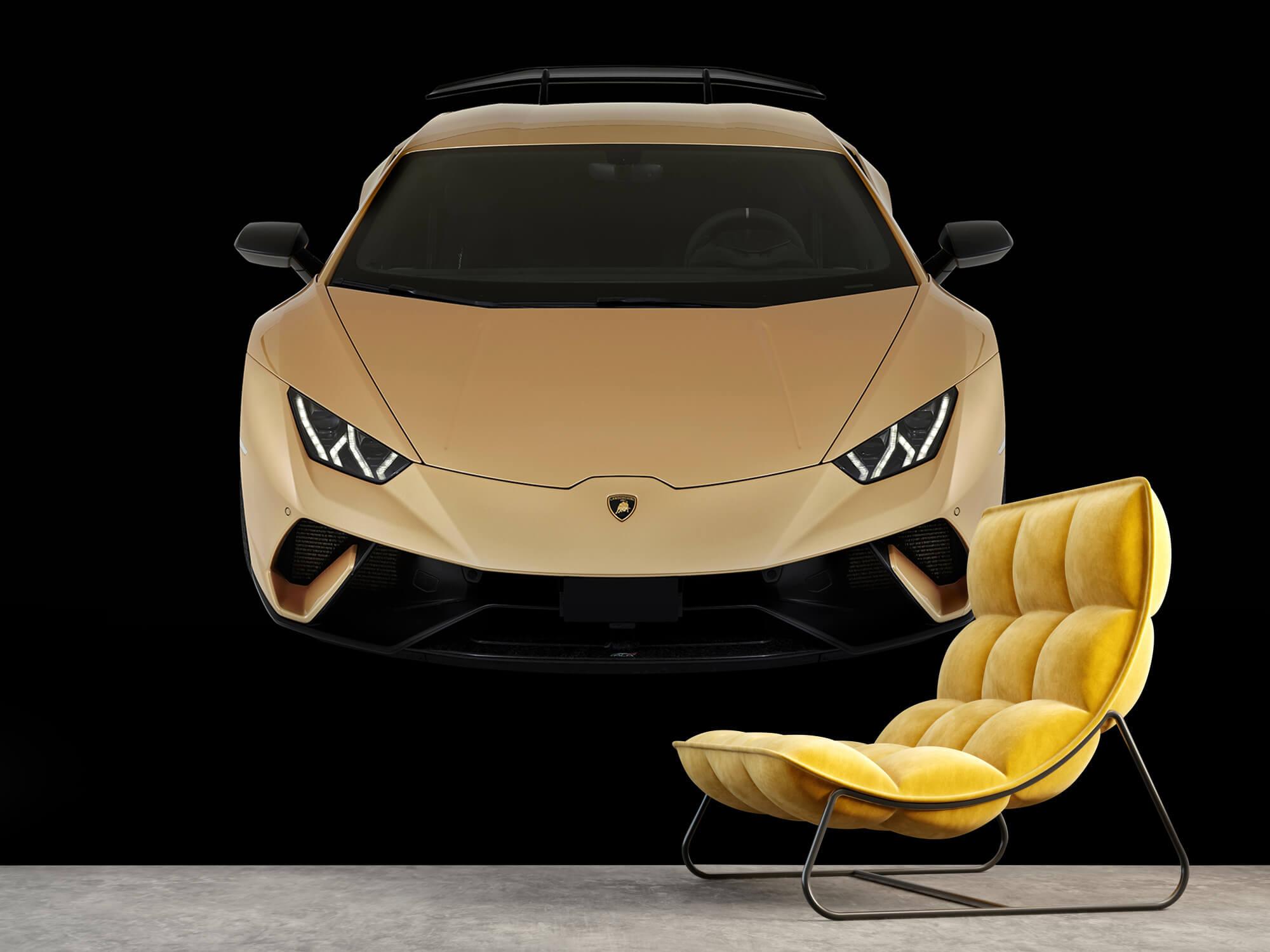 Wallpaper Lamborghini Huracán - Avant du dessus, noir 8