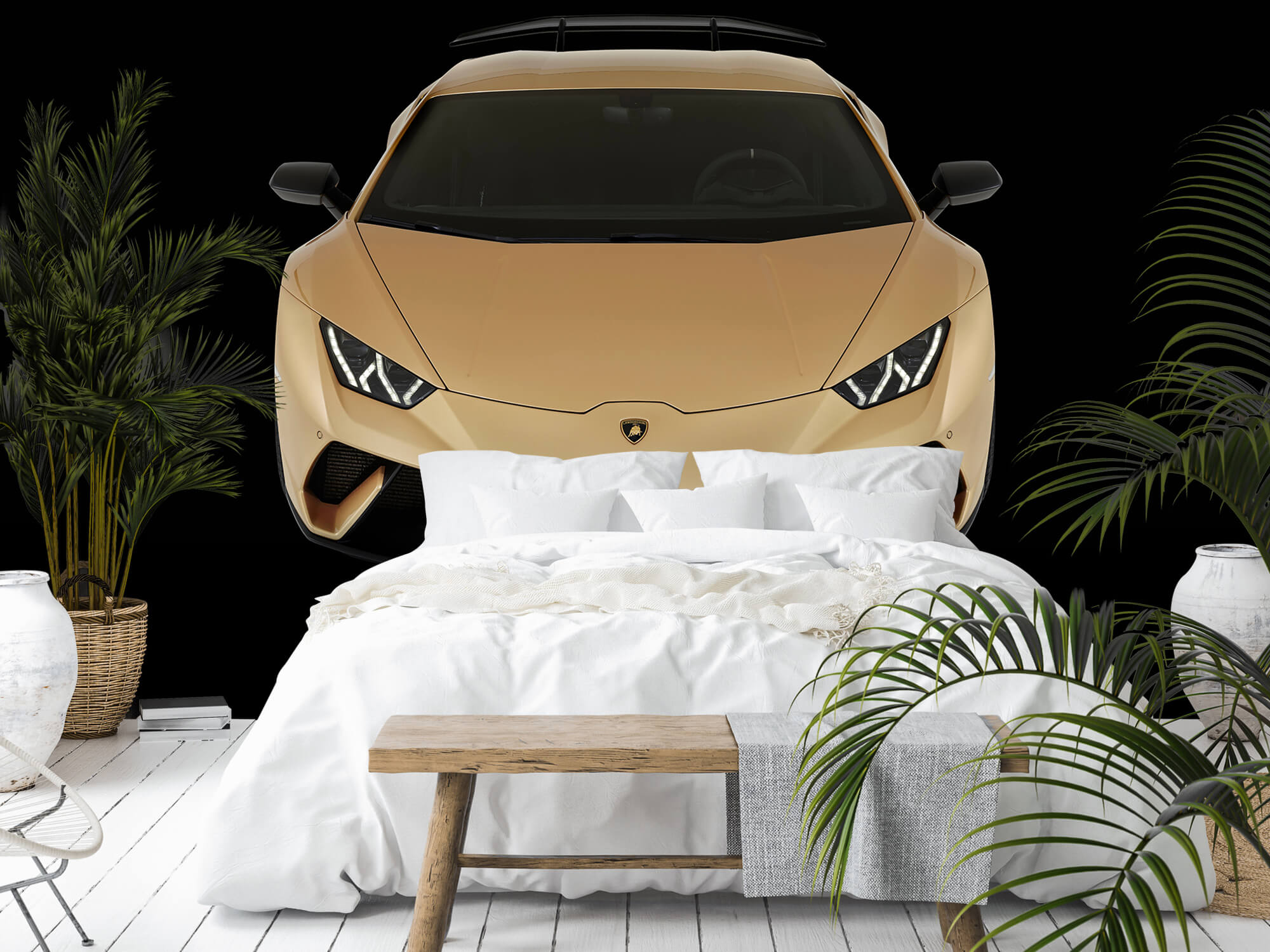 Wallpaper Lamborghini Huracán - Avant du dessus, noir 9
