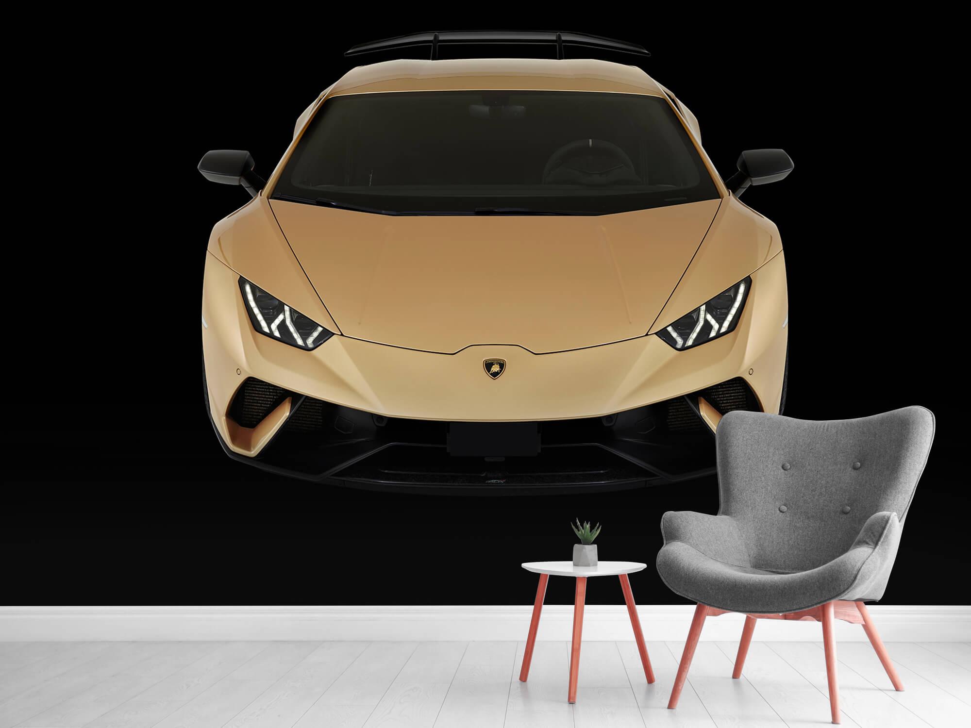 Wallpaper Lamborghini Huracán - Avant du dessus, noir 10