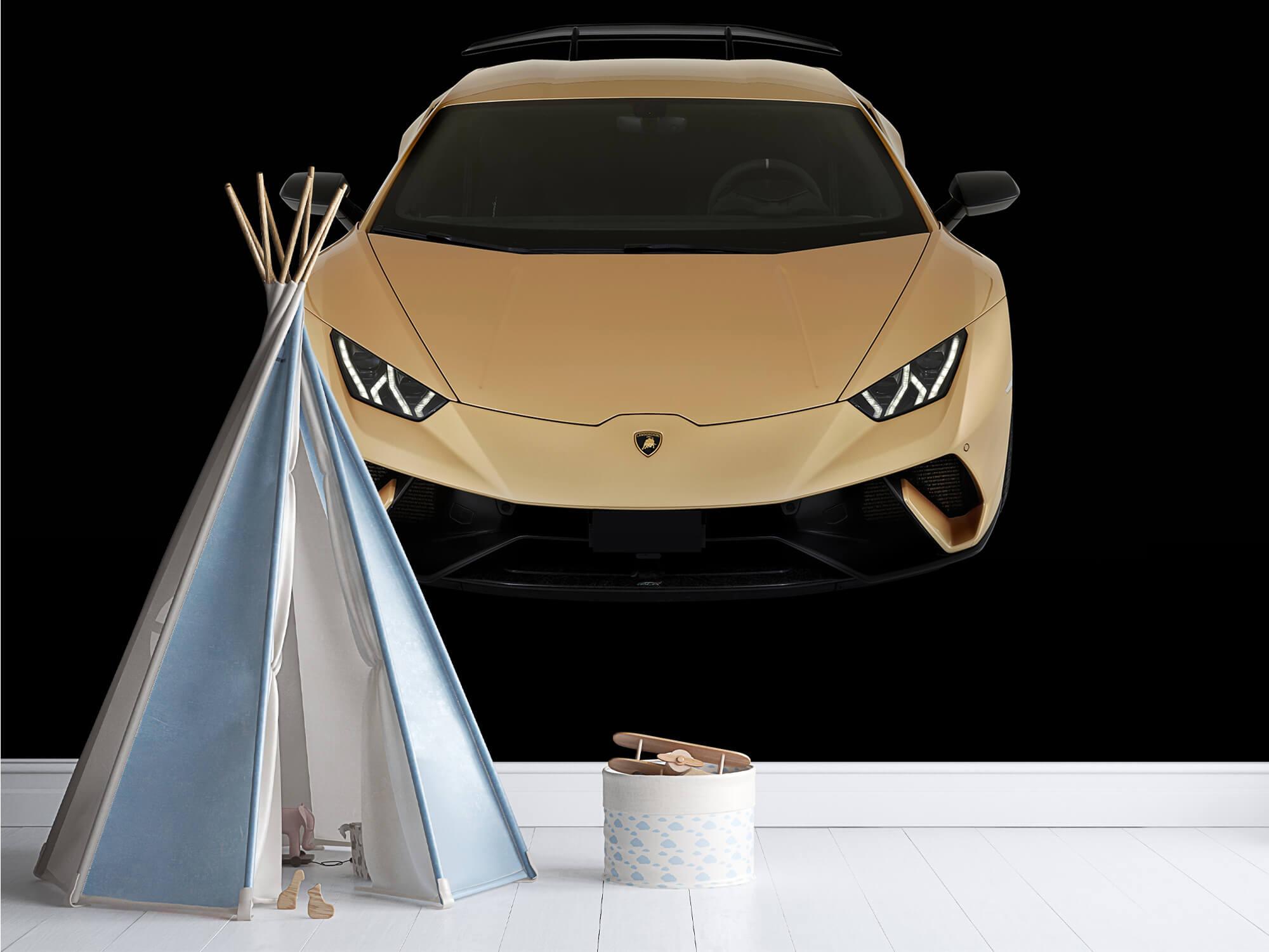 Wallpaper Lamborghini Huracán - Avant du dessus, noir 1