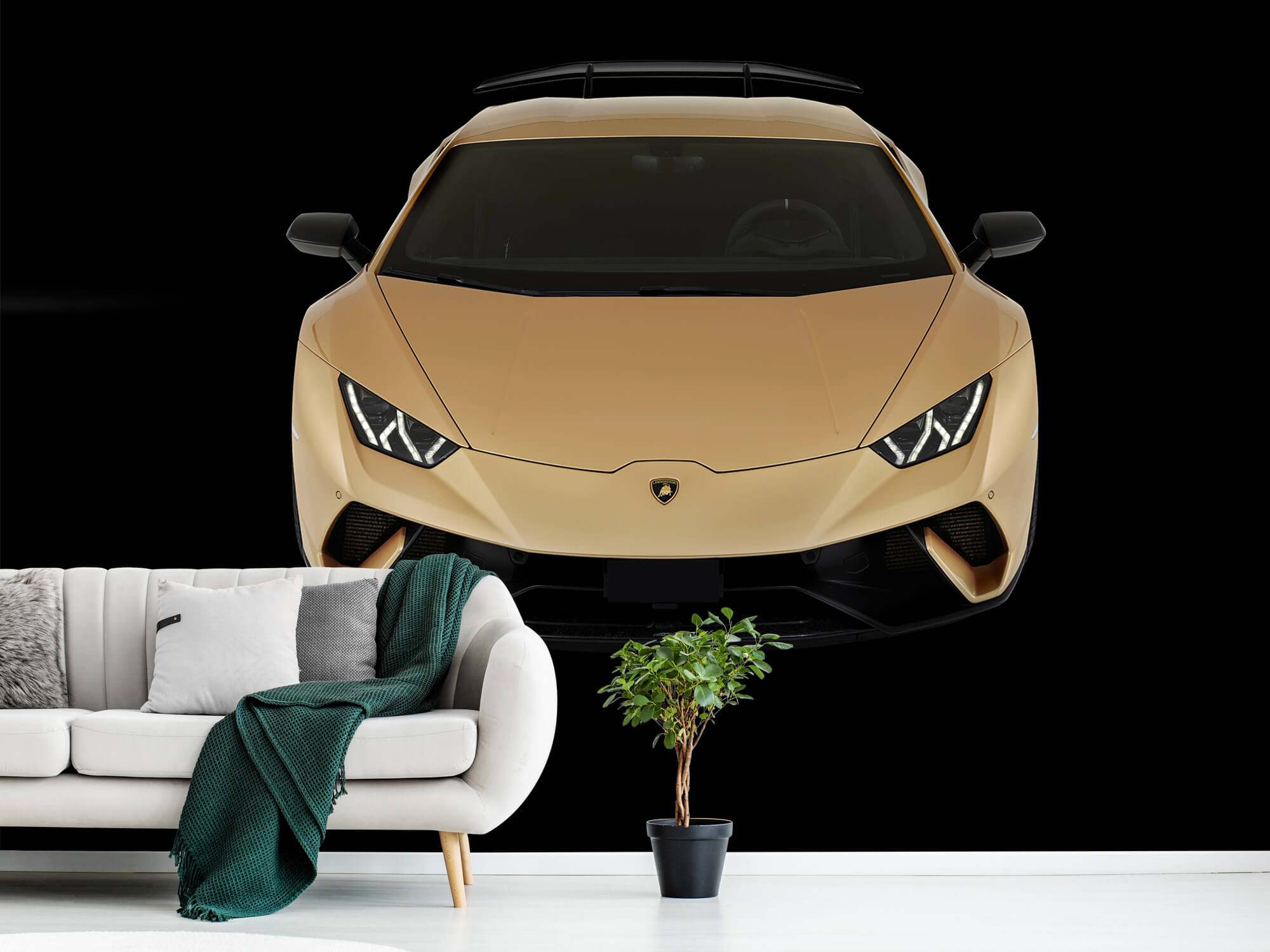 Wallpaper Lamborghini Huracán - Avant du dessus, noir 11