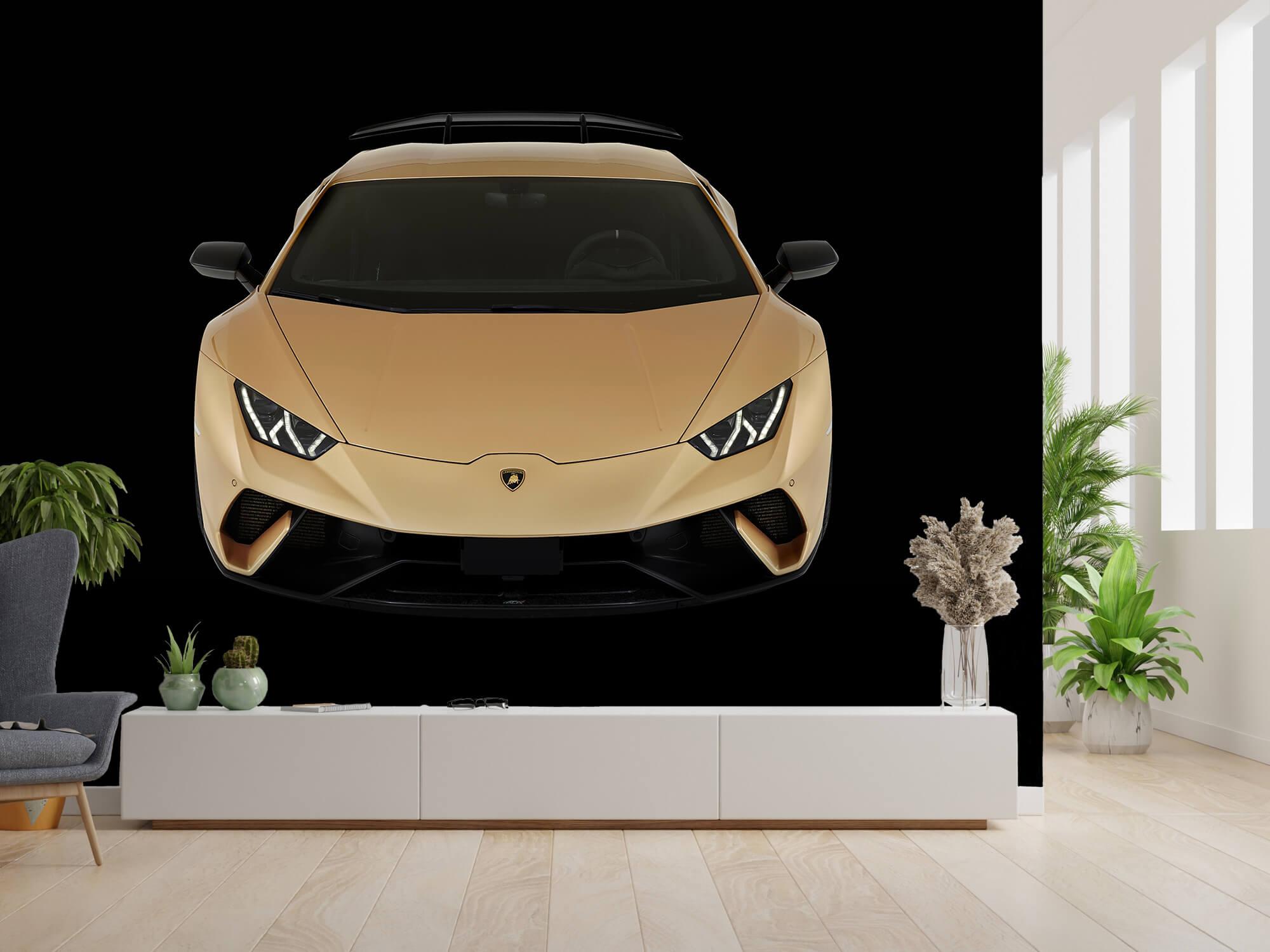Wallpaper Lamborghini Huracán - Avant du dessus, noir 14