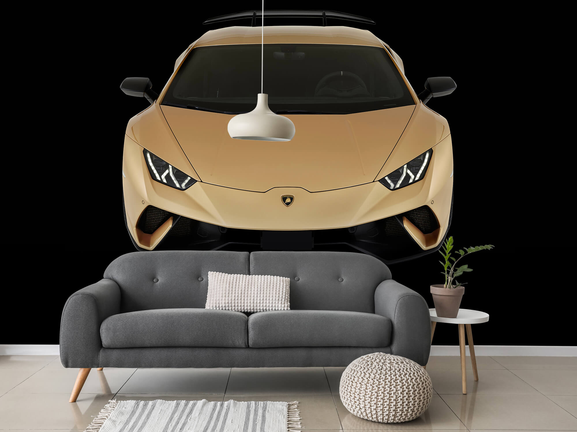 Wallpaper Lamborghini Huracán - Avant du dessus, noir 3