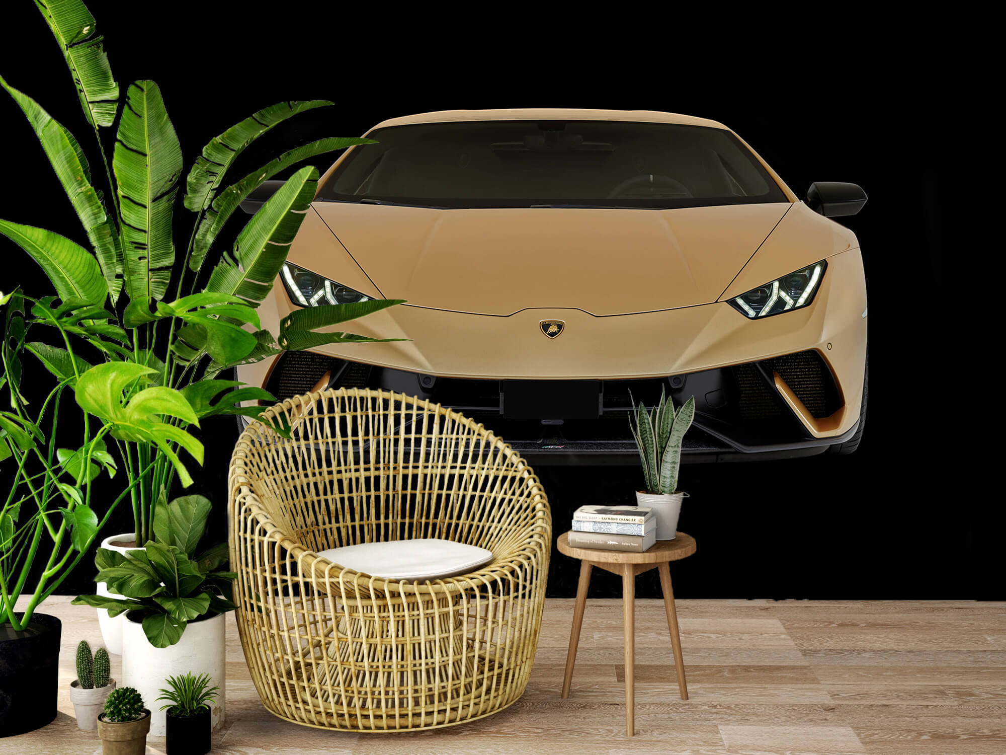 Wallpaper Lamborghini Huracán - Avant, noir 7