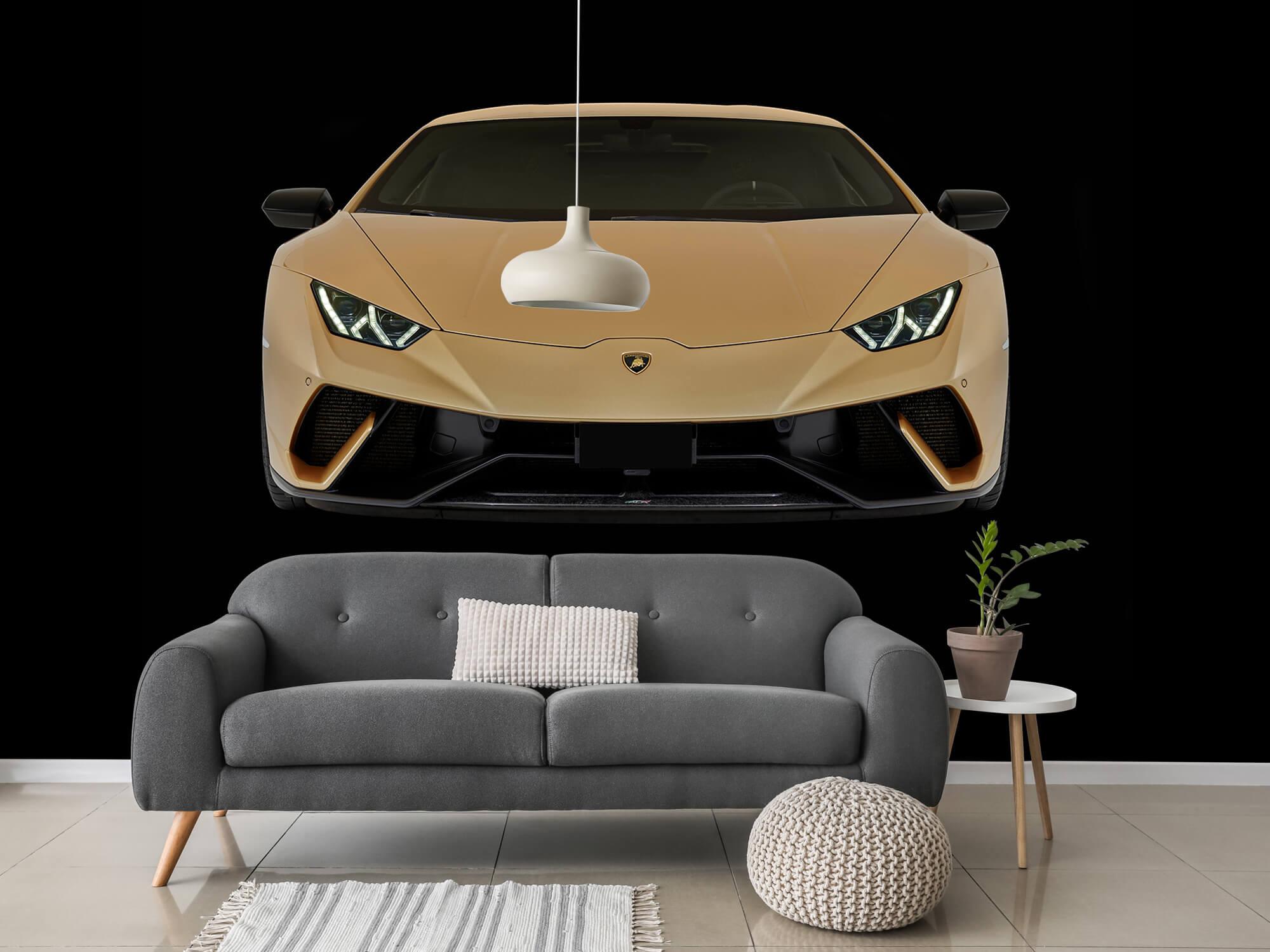 Wallpaper Lamborghini Huracán - Avant, noir 3
