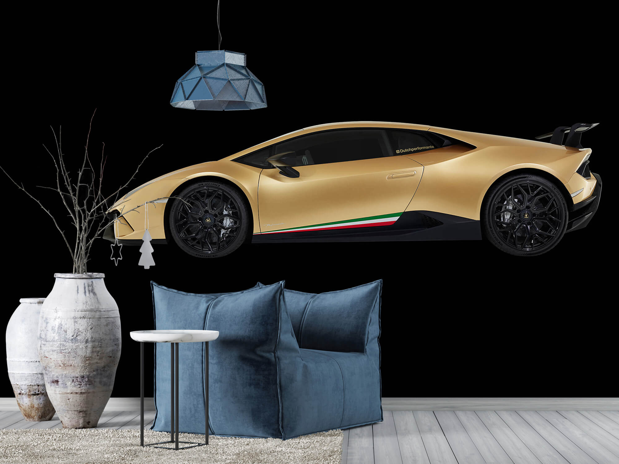 Wallpaper Lamborghini Huracán - Côté, noir 9