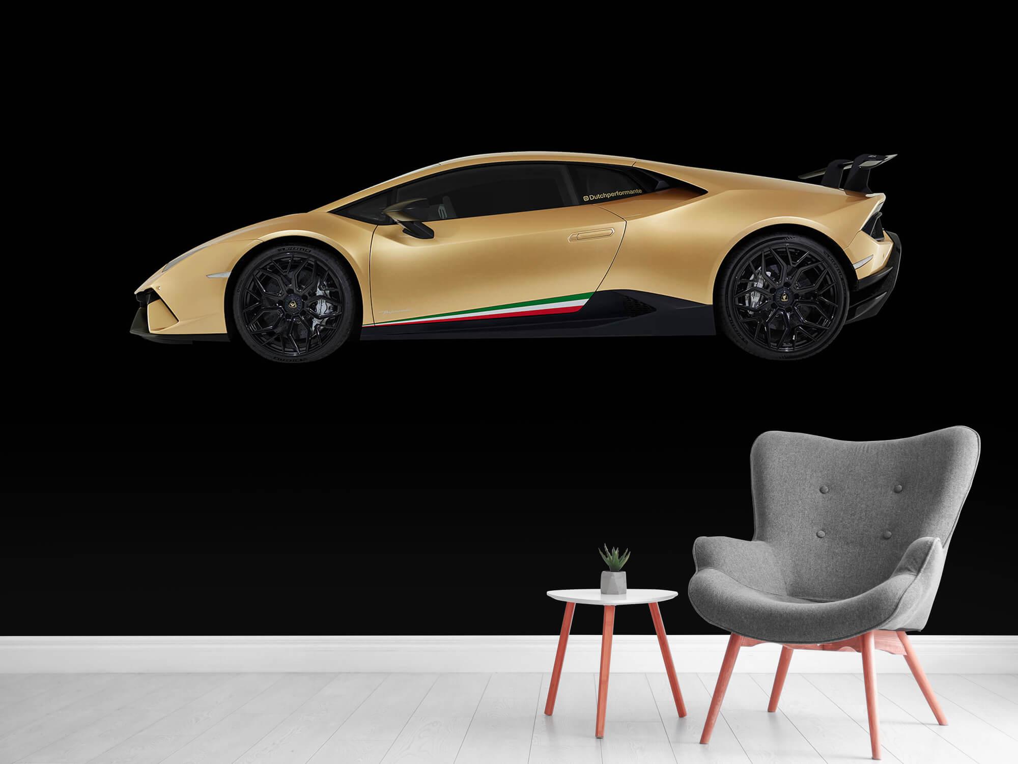 Wallpaper Lamborghini Huracán - Côté, noir 12
