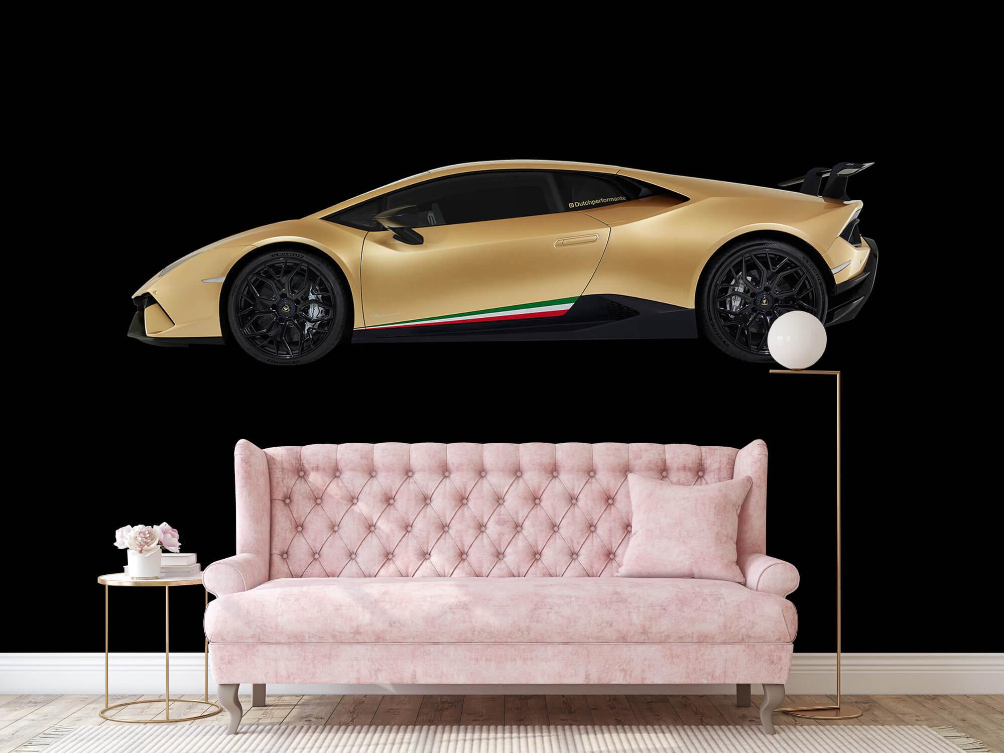 Wallpaper Lamborghini Huracán - Côté, noir 14