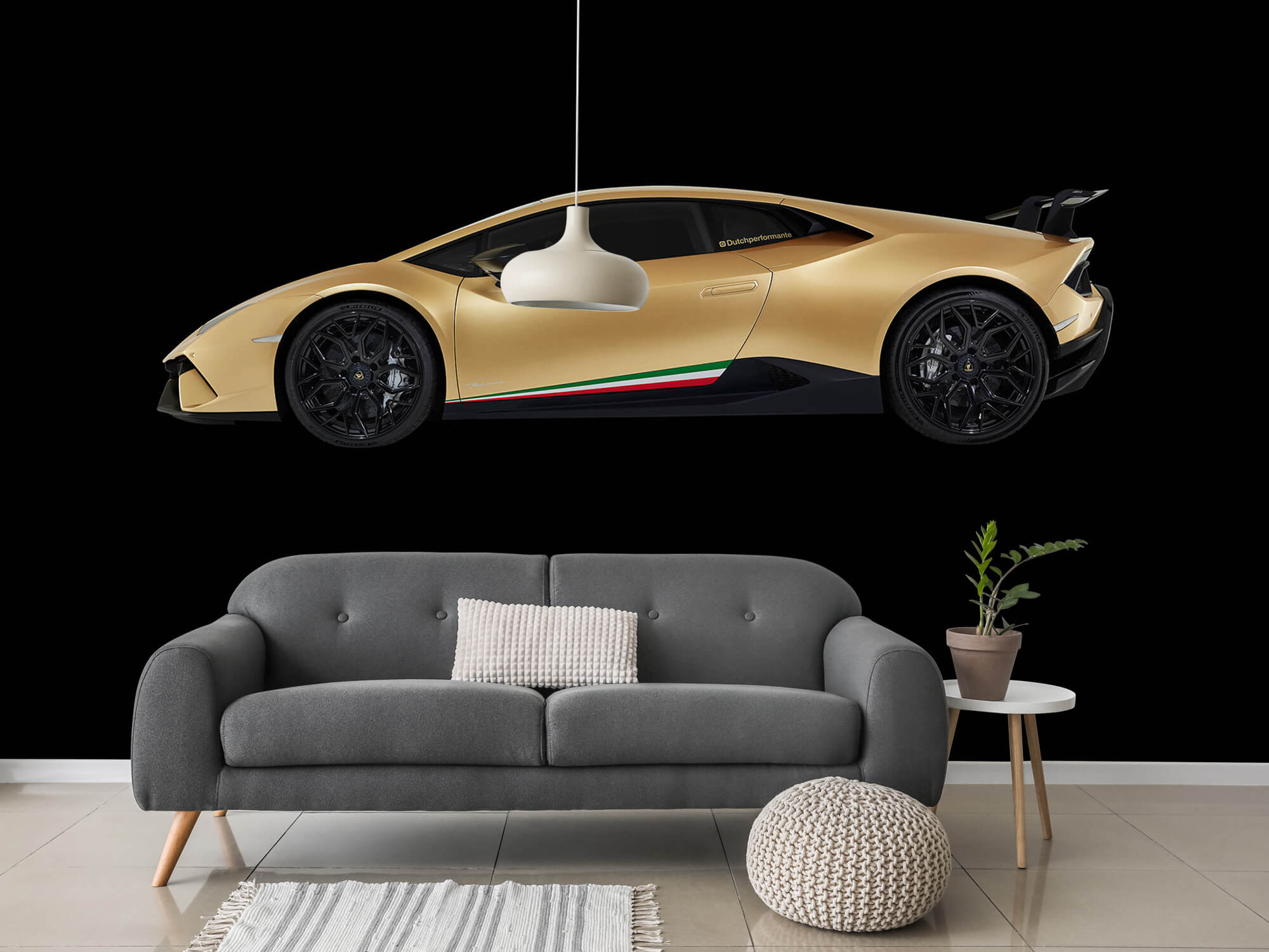 Wallpaper Lamborghini Huracán - Côté, noir 15