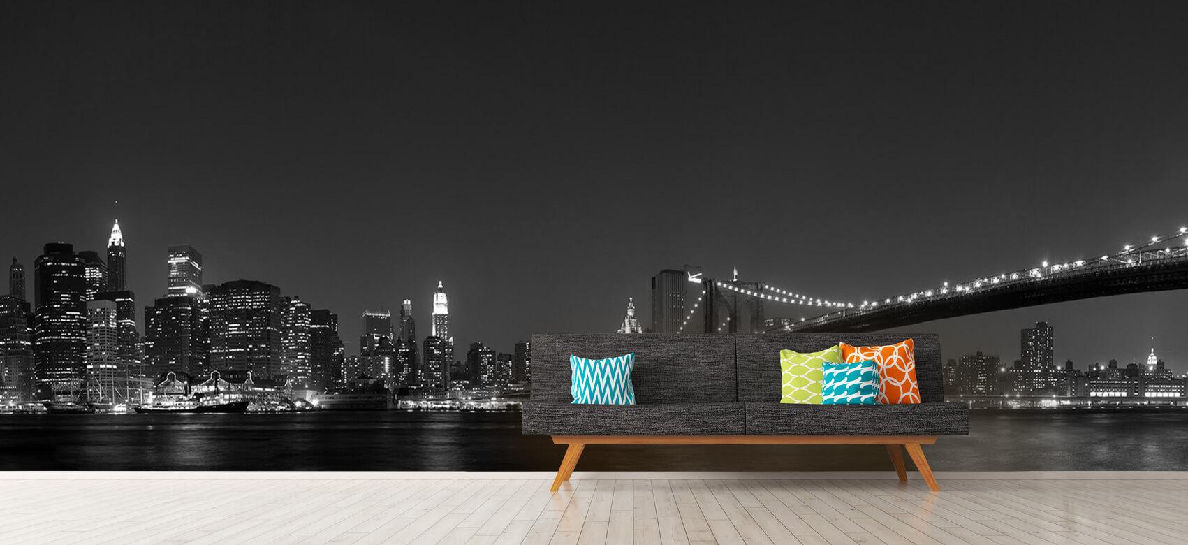 Nacht Manhattan Skyline and Brooklyn Bridge 13