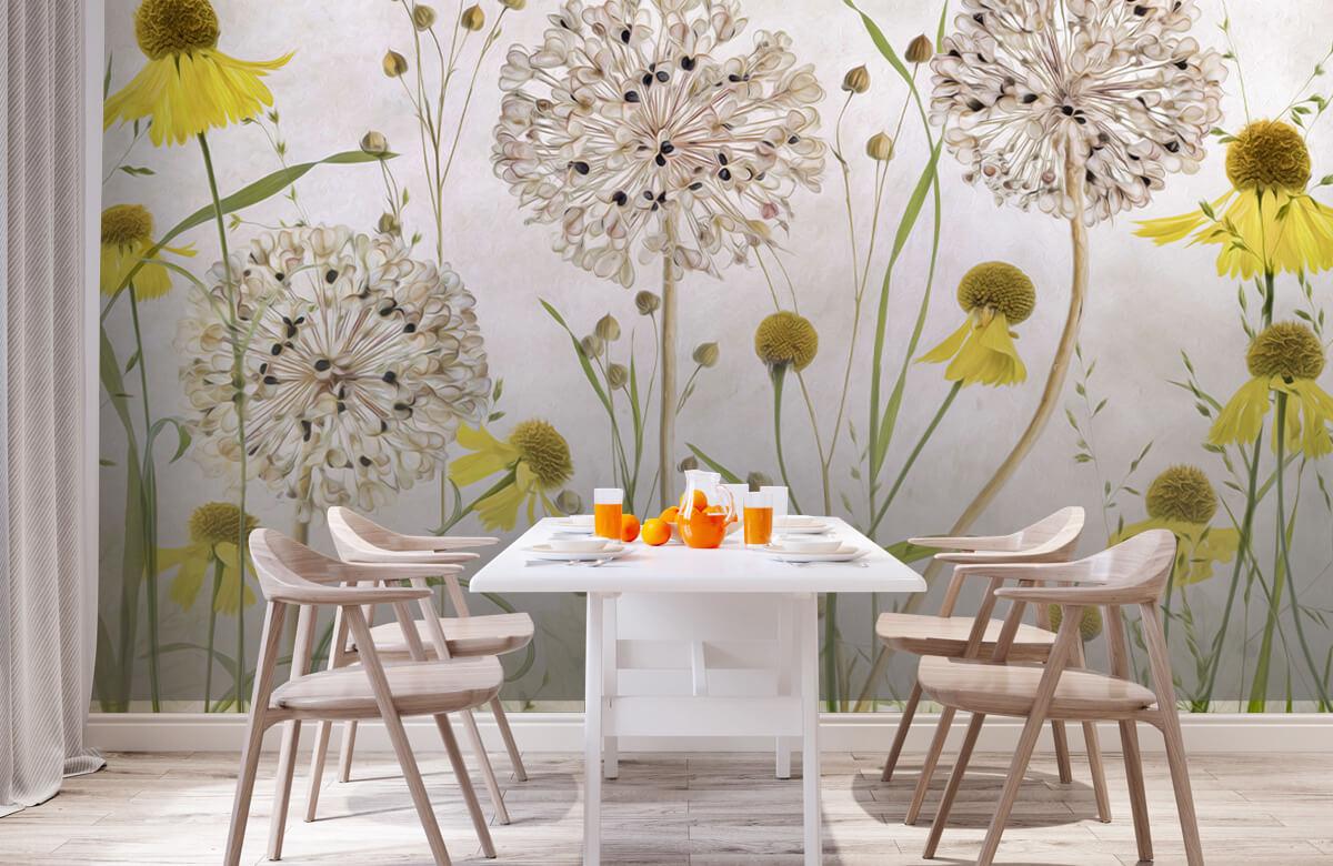 Stilleven Alliums and heleniums 2