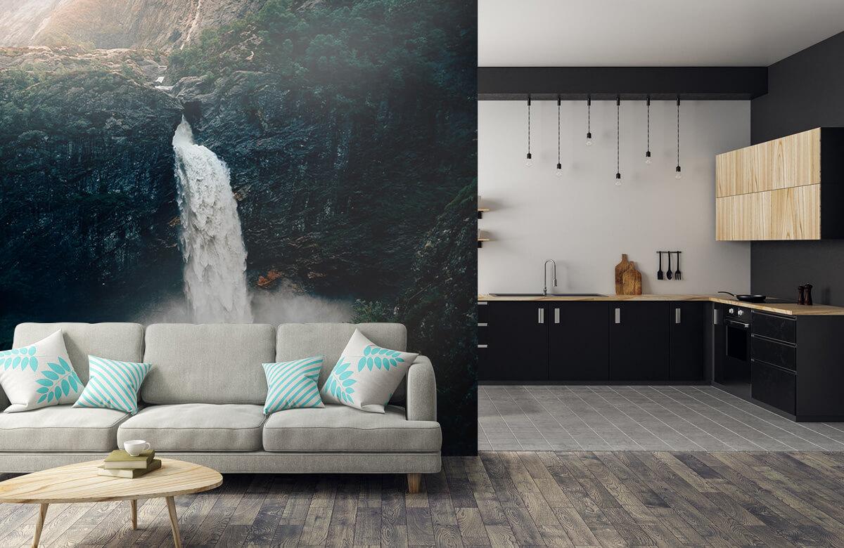 Wallpaper Une impressionnante chute d'eau 9