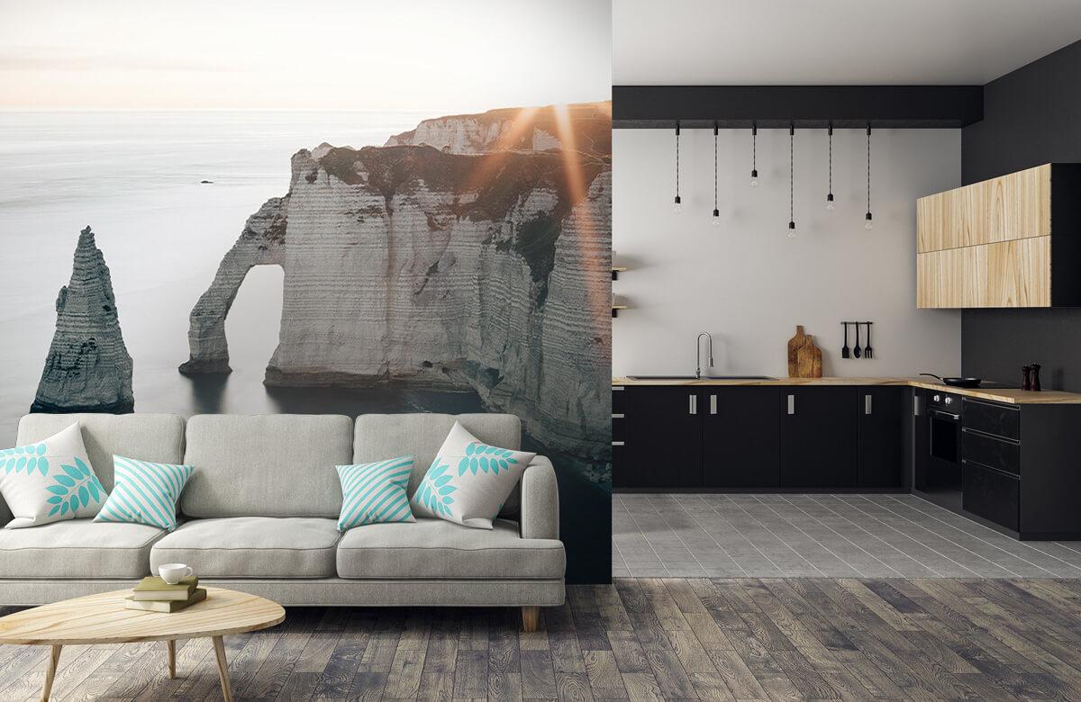 Wallpaper Soleil matinal sur la côte 9