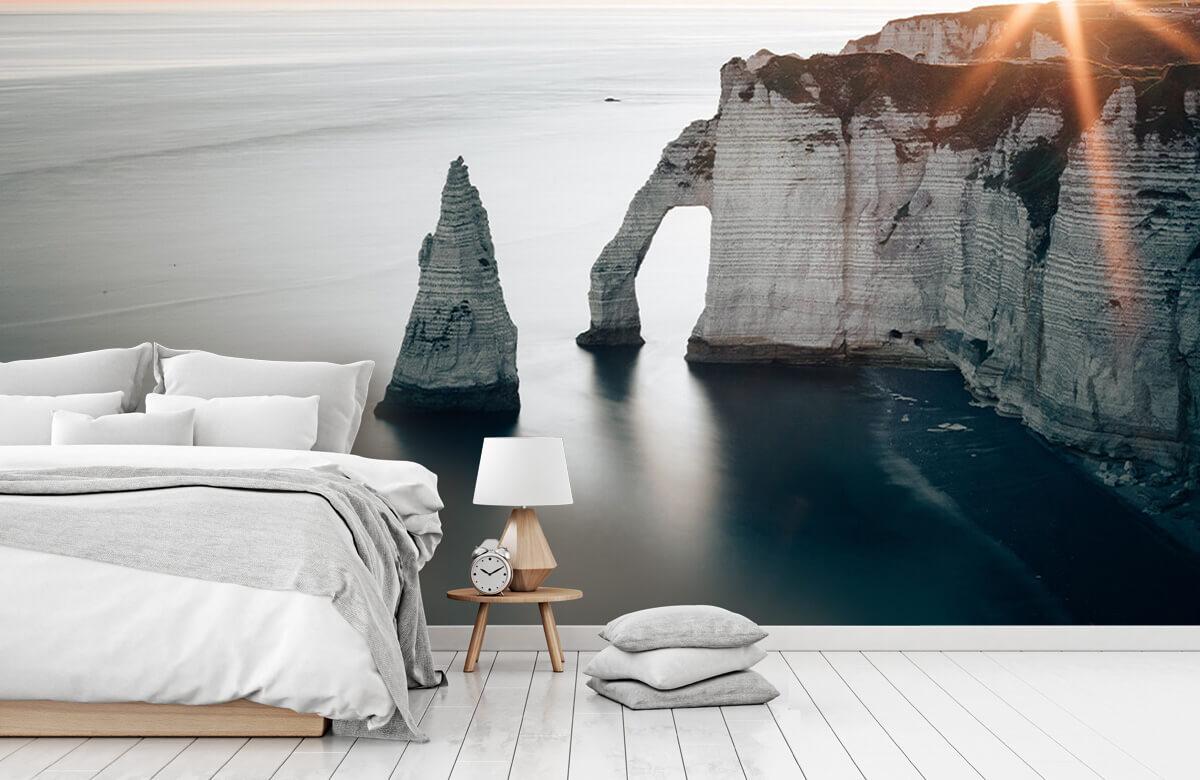 Wallpaper Soleil matinal sur la côte 7