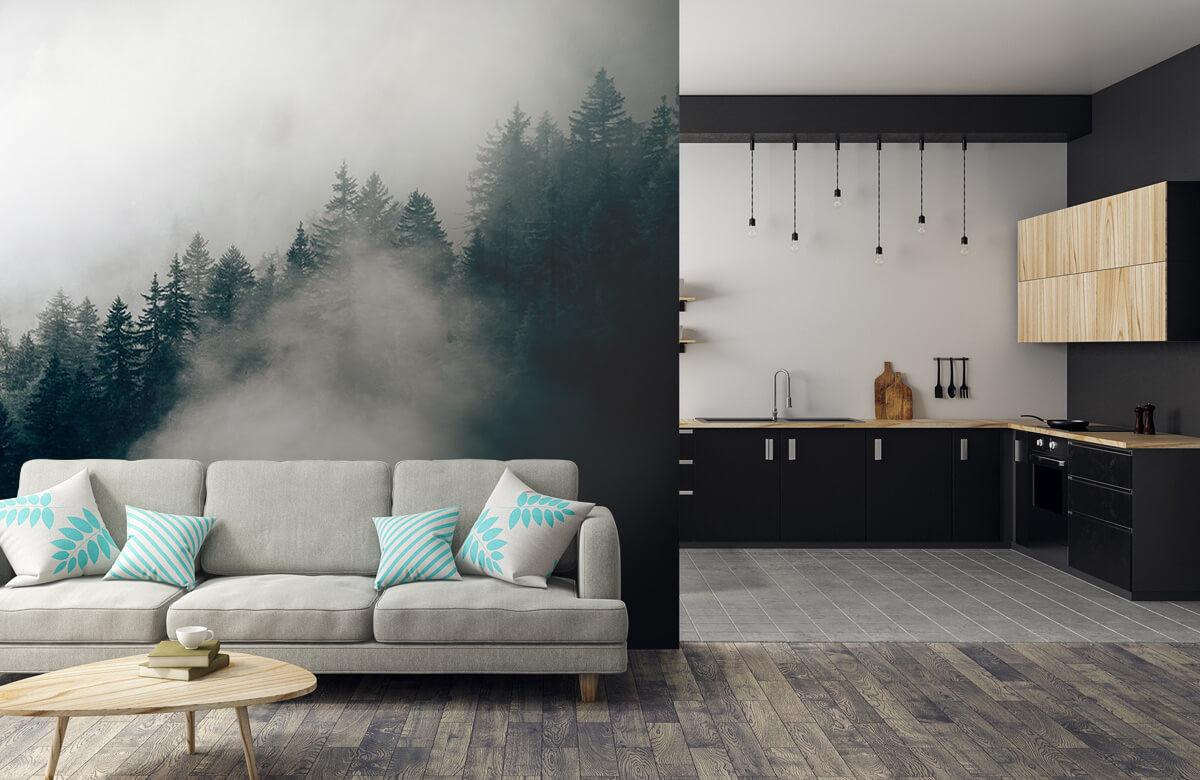 Wallpaper Matin alpin brumeux 9