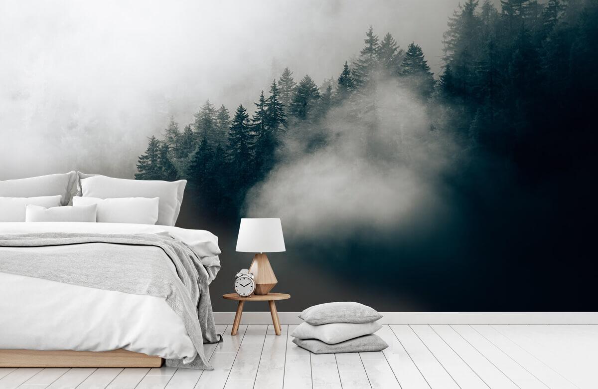 Wallpaper Matin alpin brumeux 1